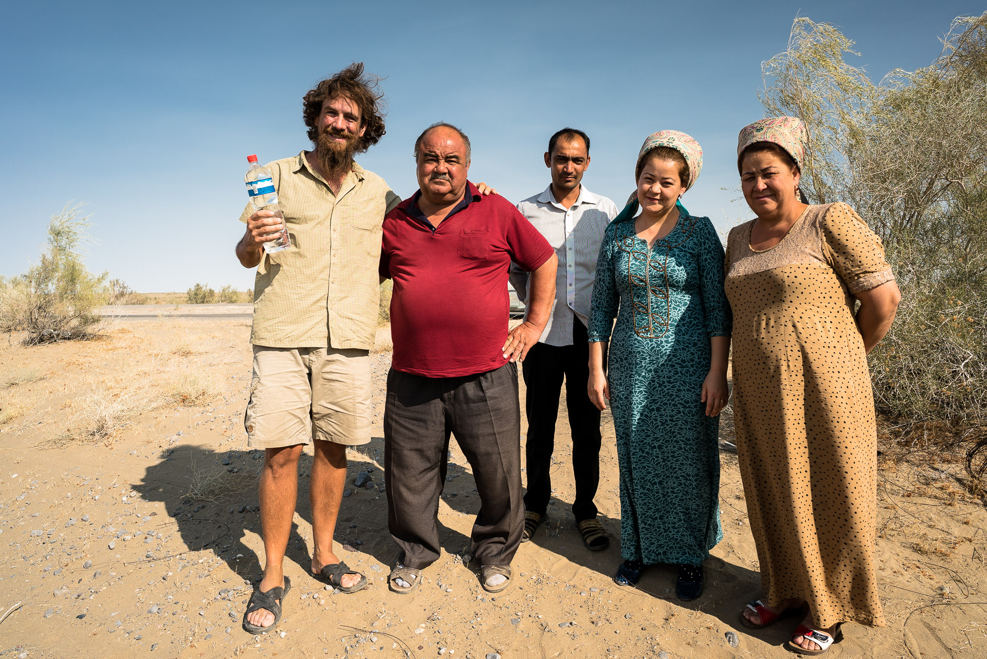 friendly Turkmen people