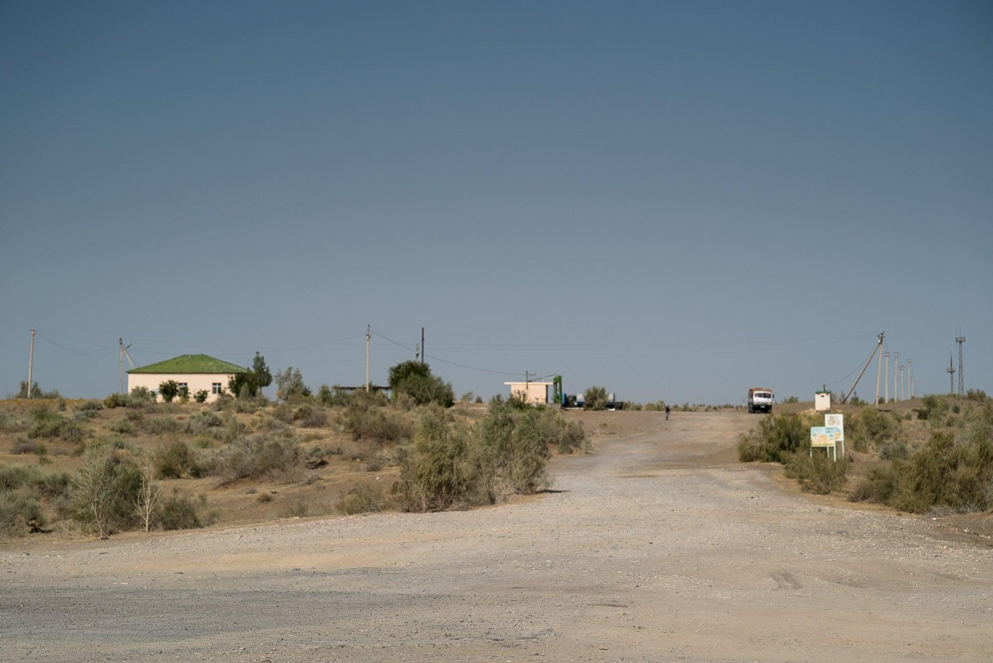 truck stop in the desert