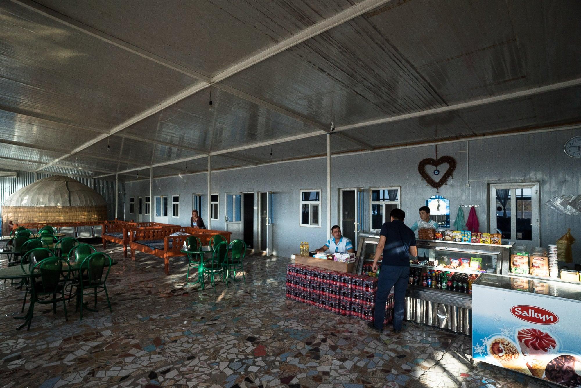 inside a Turkmen shop