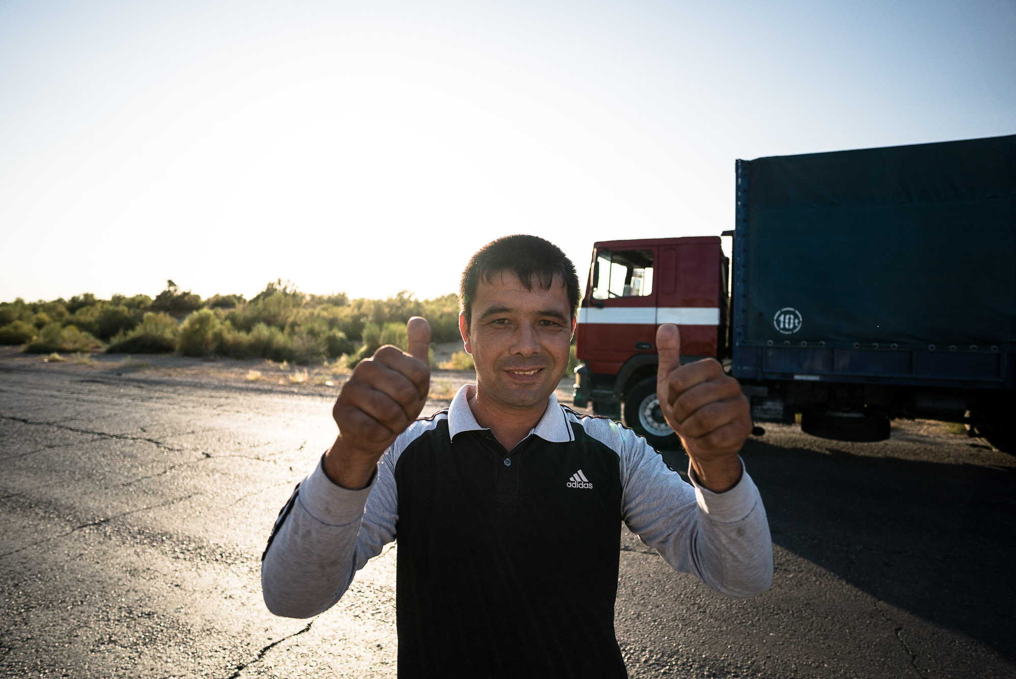 truck driver who speaks German
