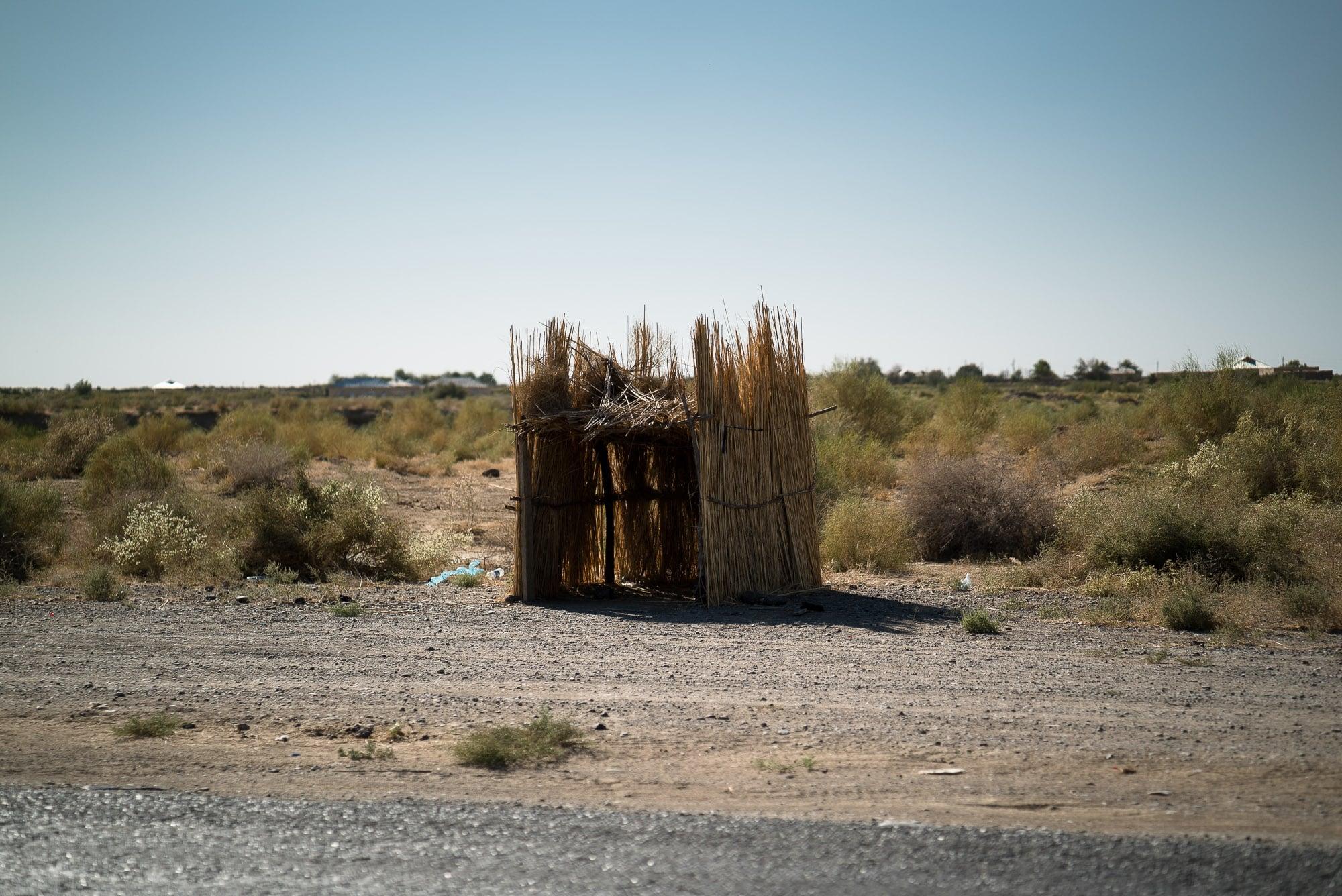straw hut