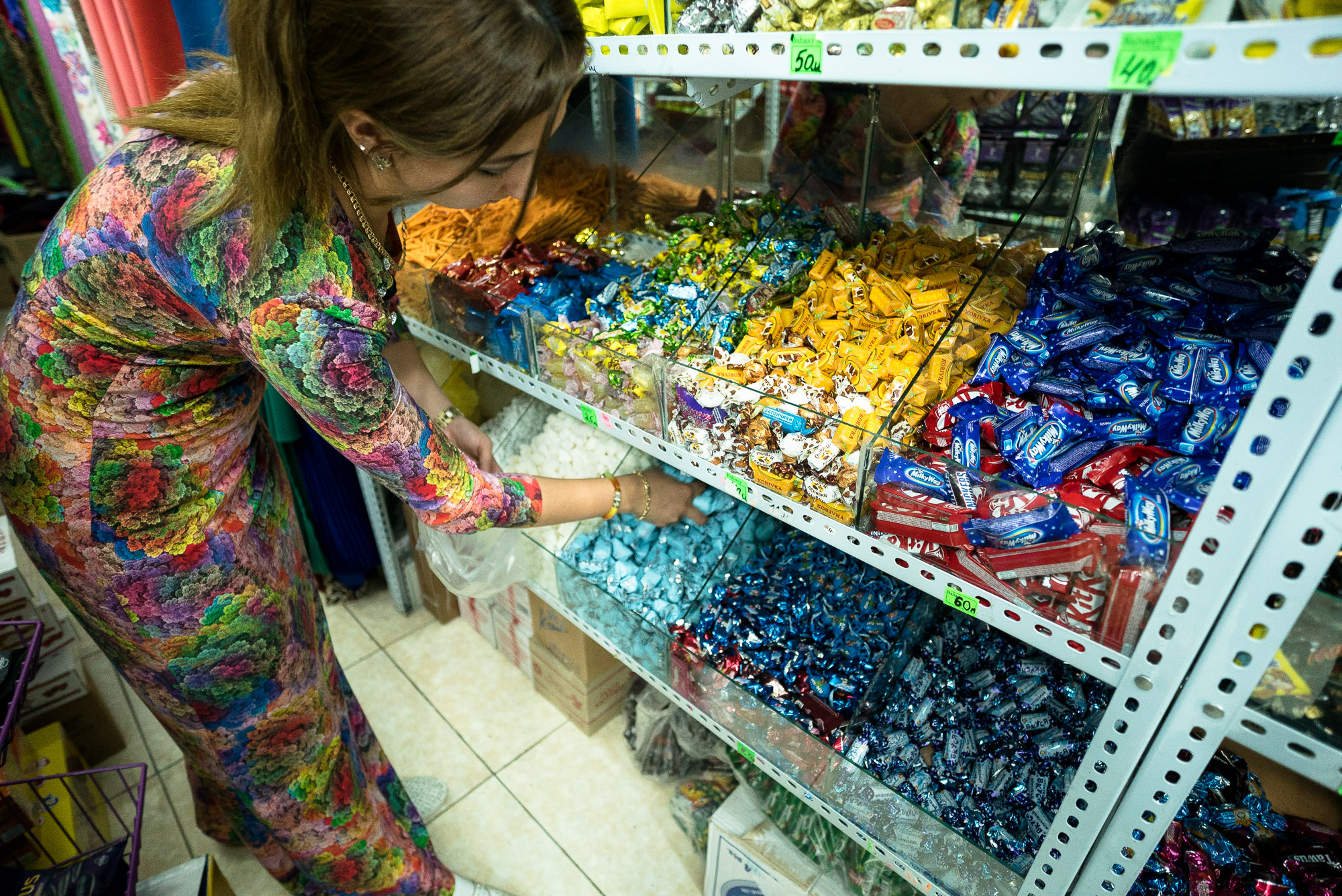 buying candy in Mary
