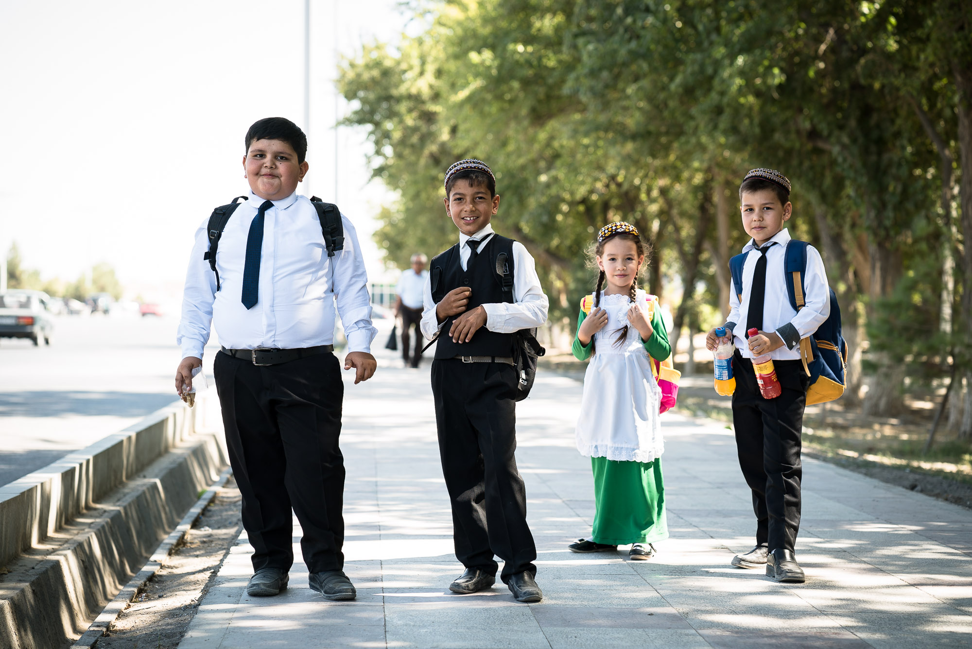 school children in Mary, Turkmenistan