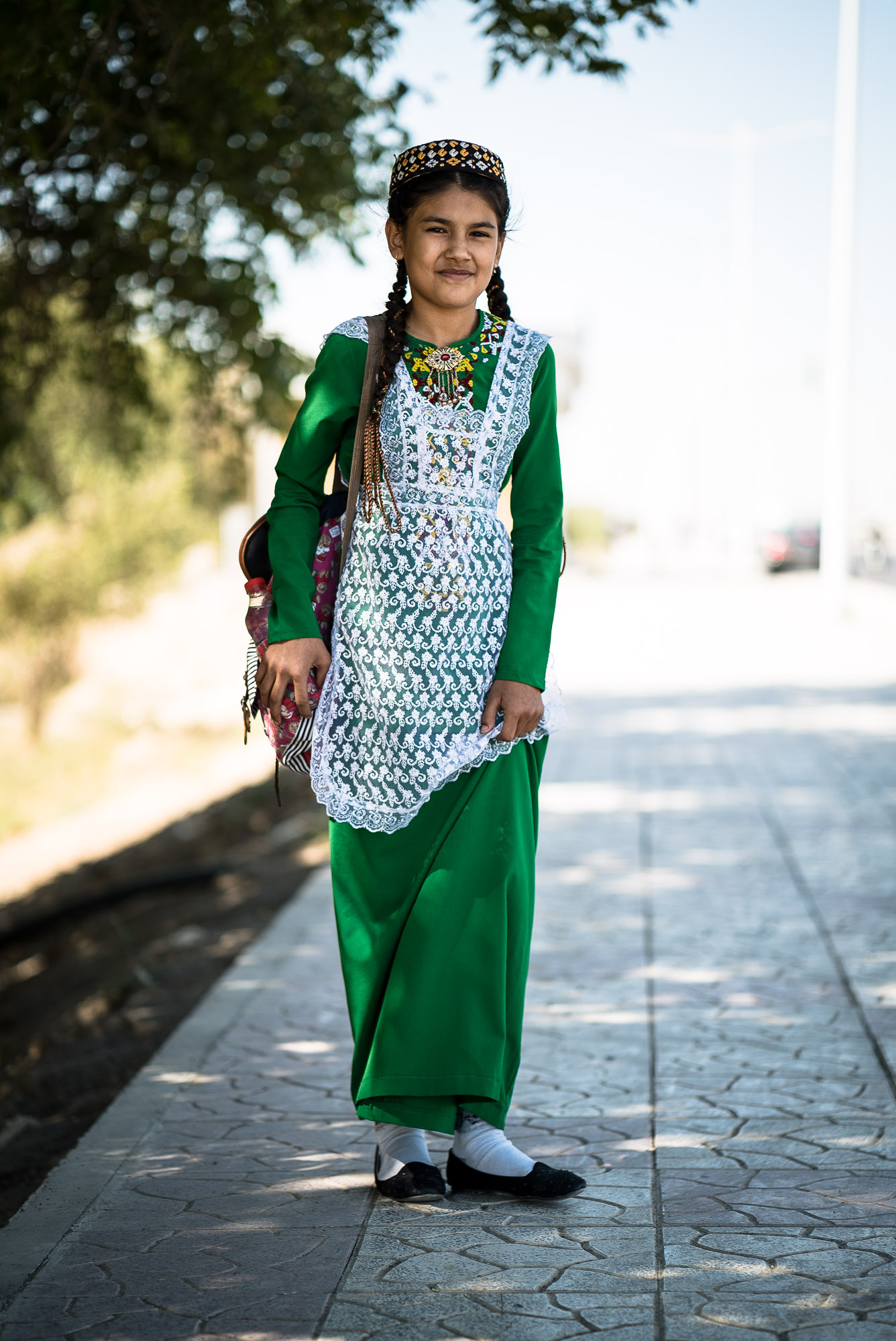 Turkmen school girl