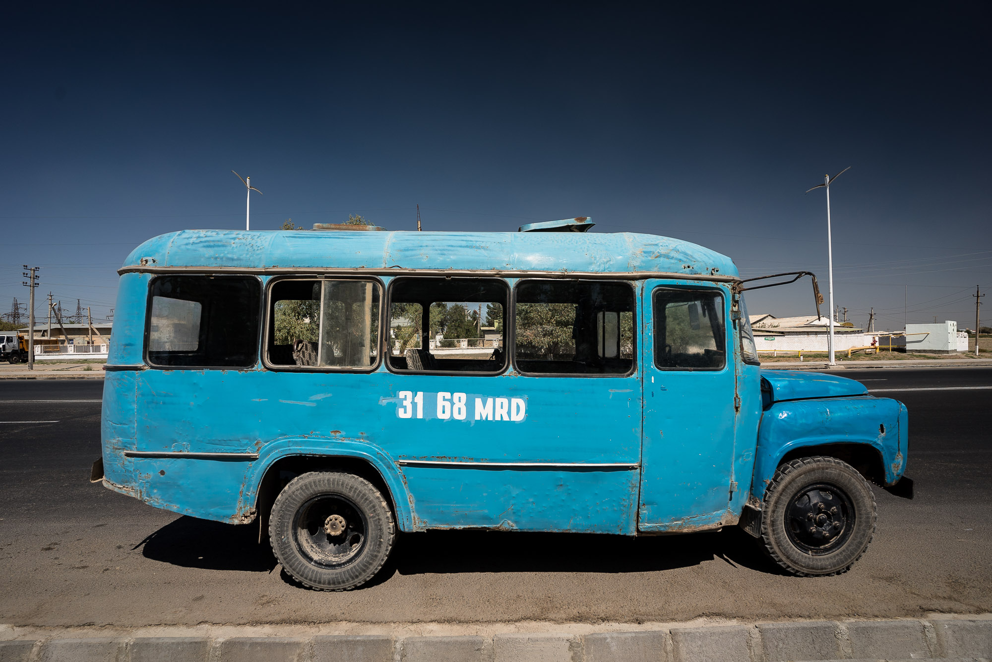 old bus in Turkmenistan
