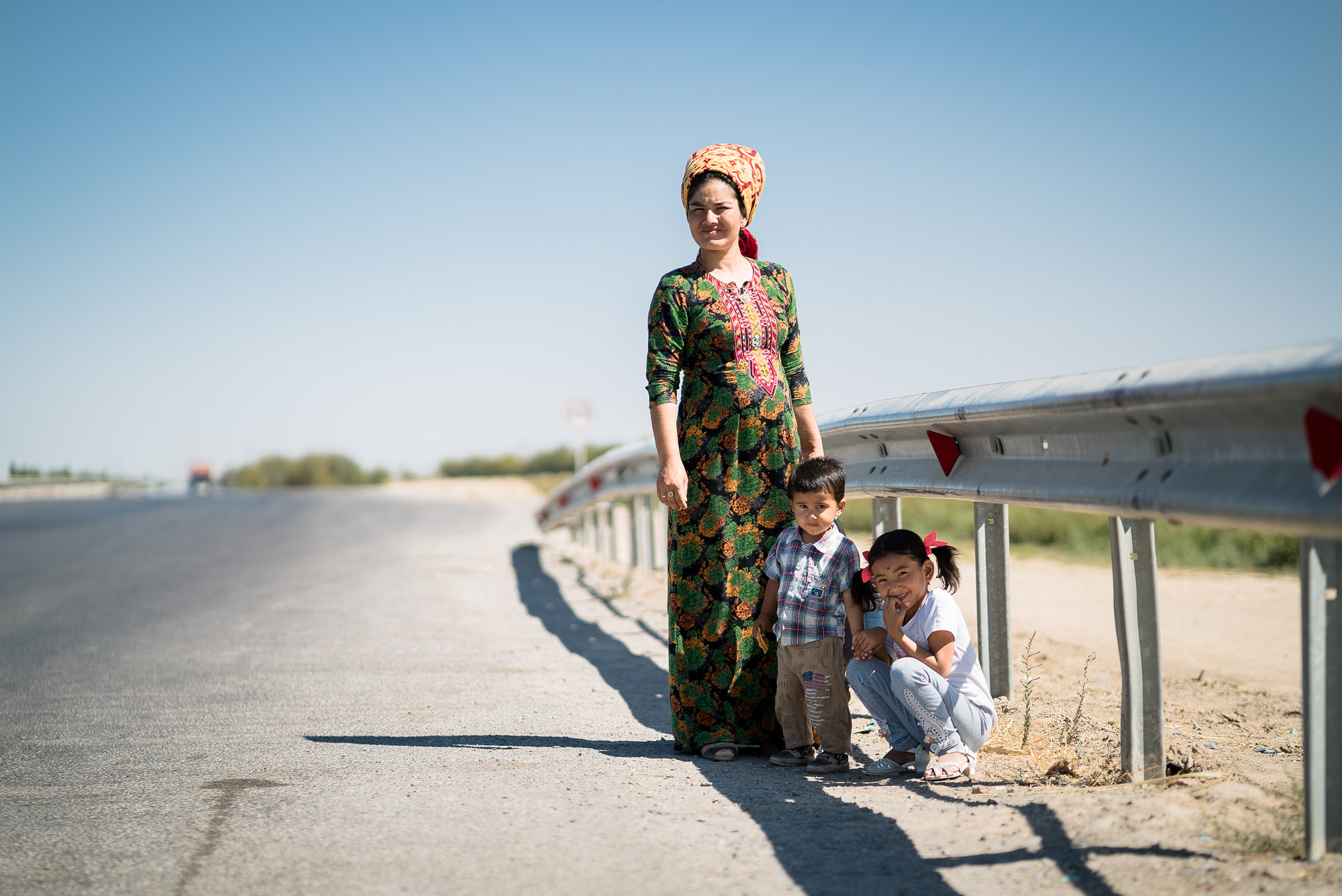 mother with children in Turkmenistan