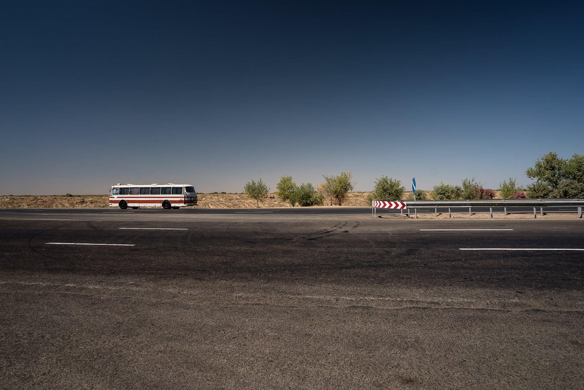 bus near Mary
