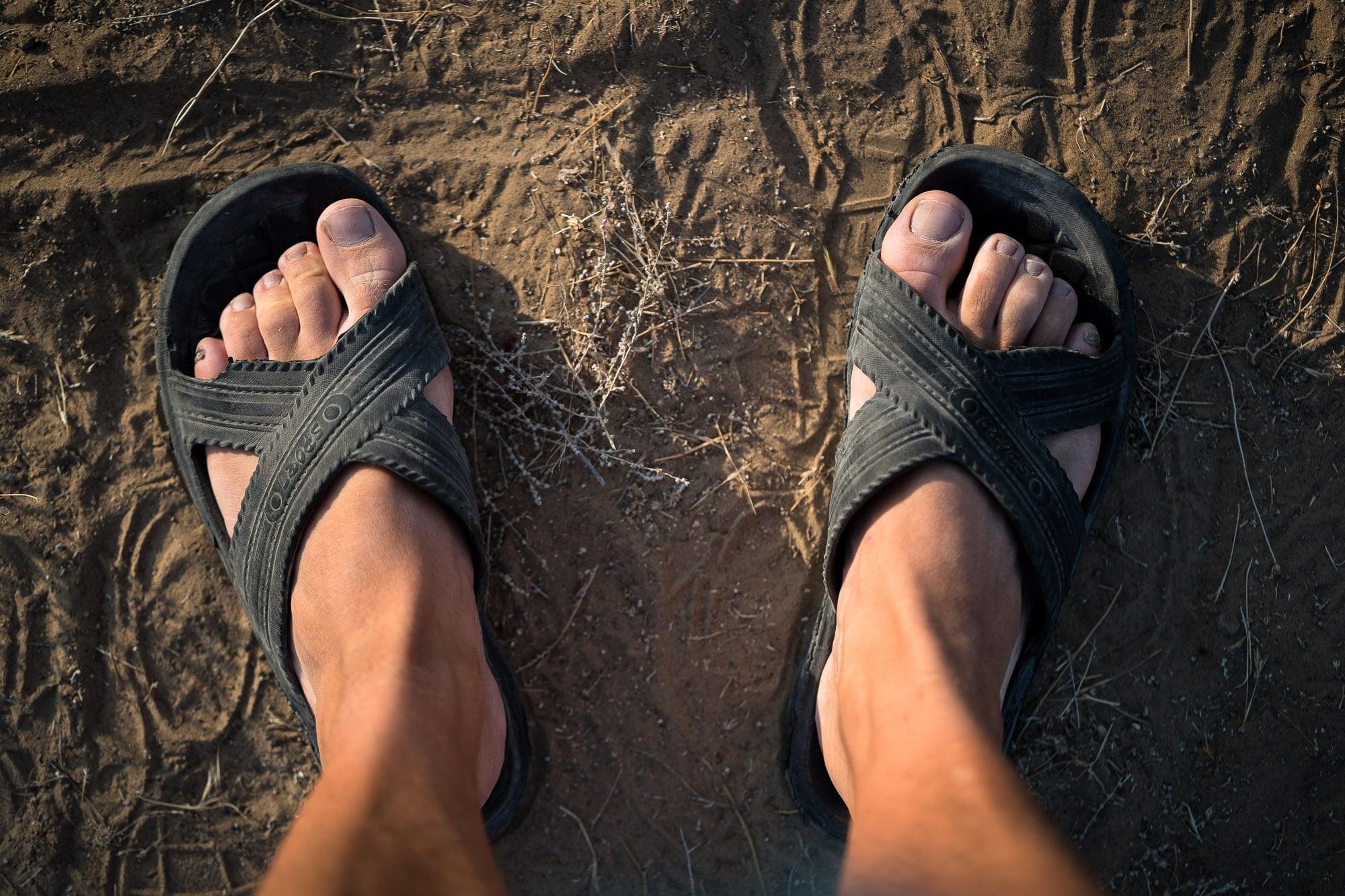 walking in slippers