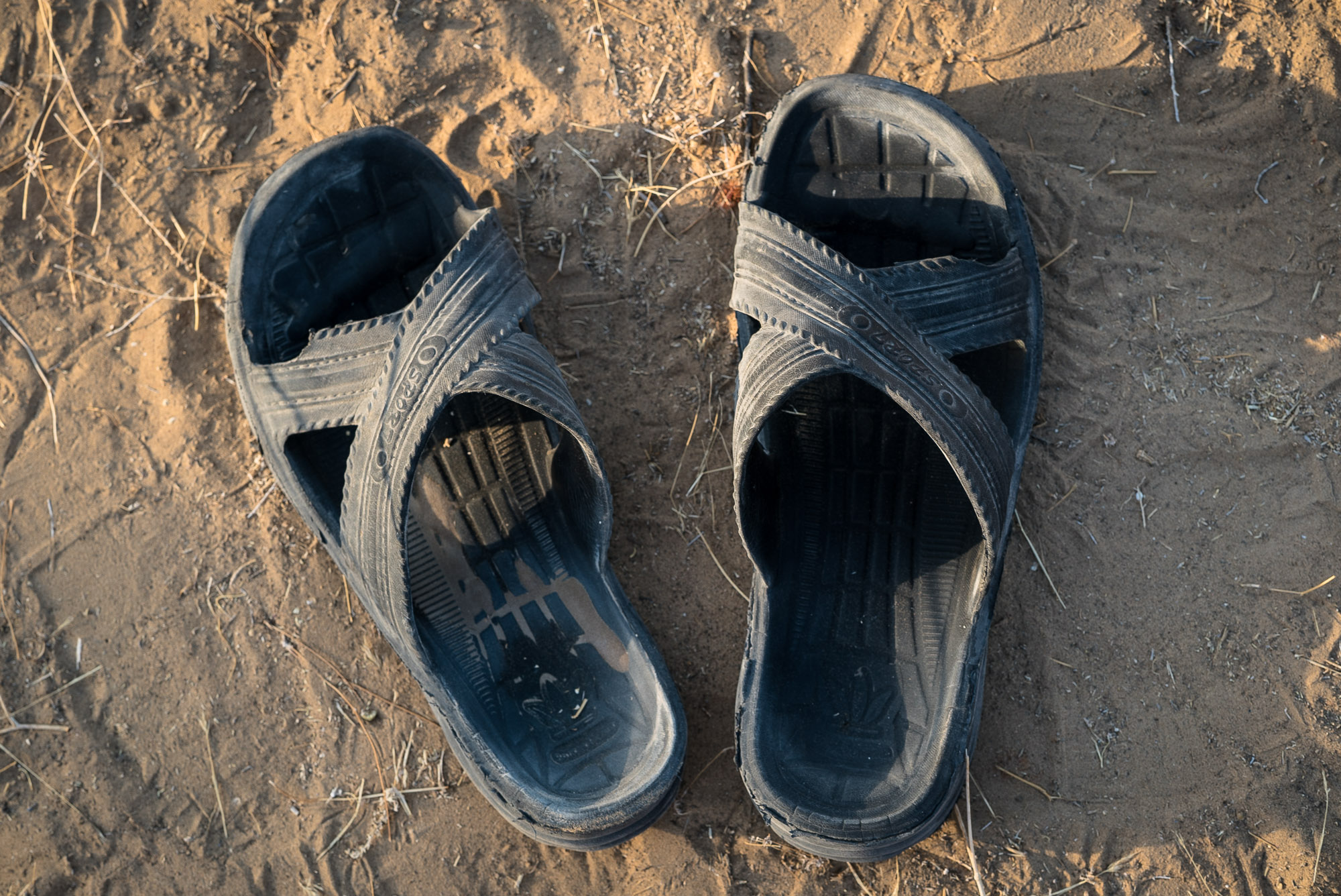 the Kazakh slippers