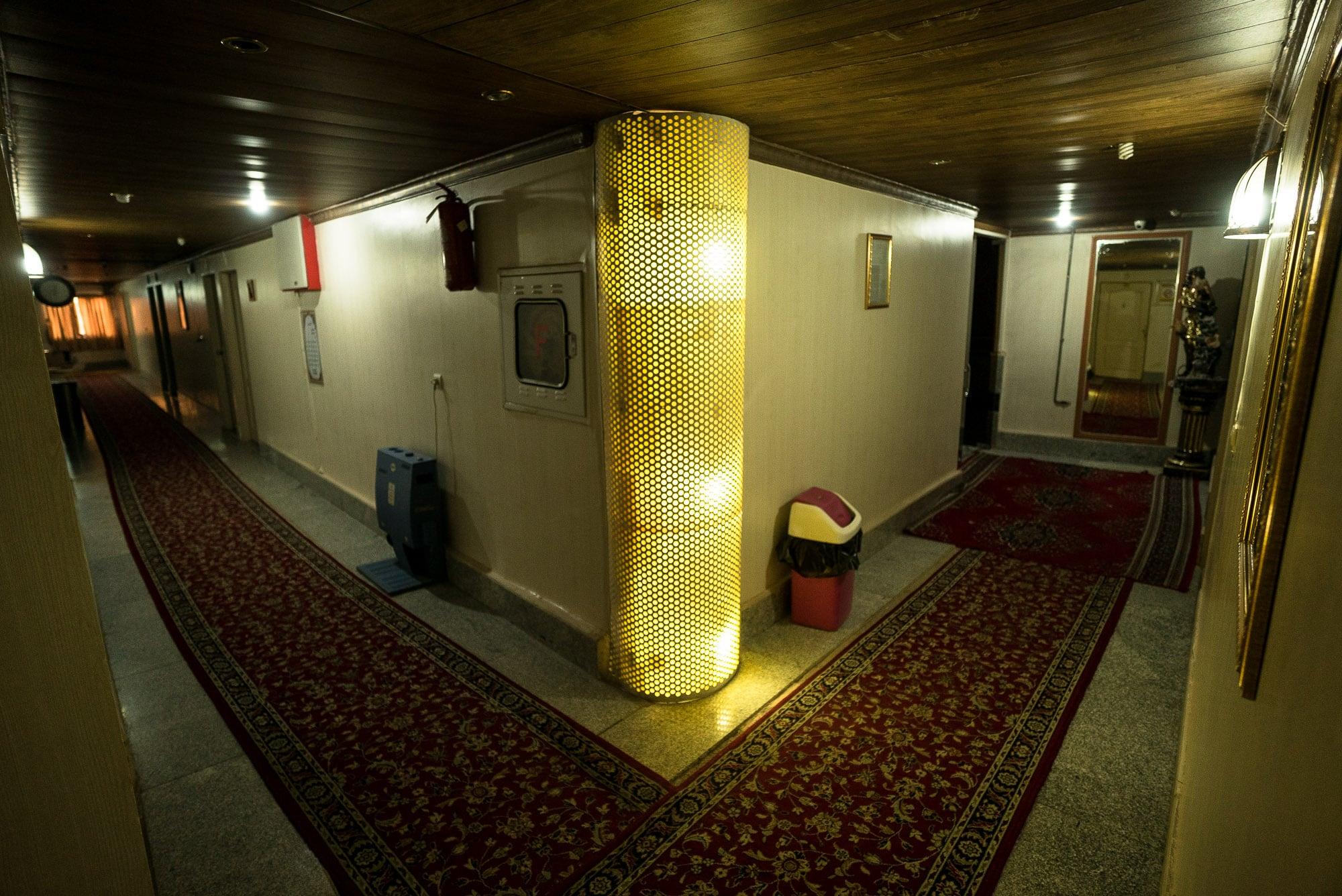 hotel corridor in Sarakhs