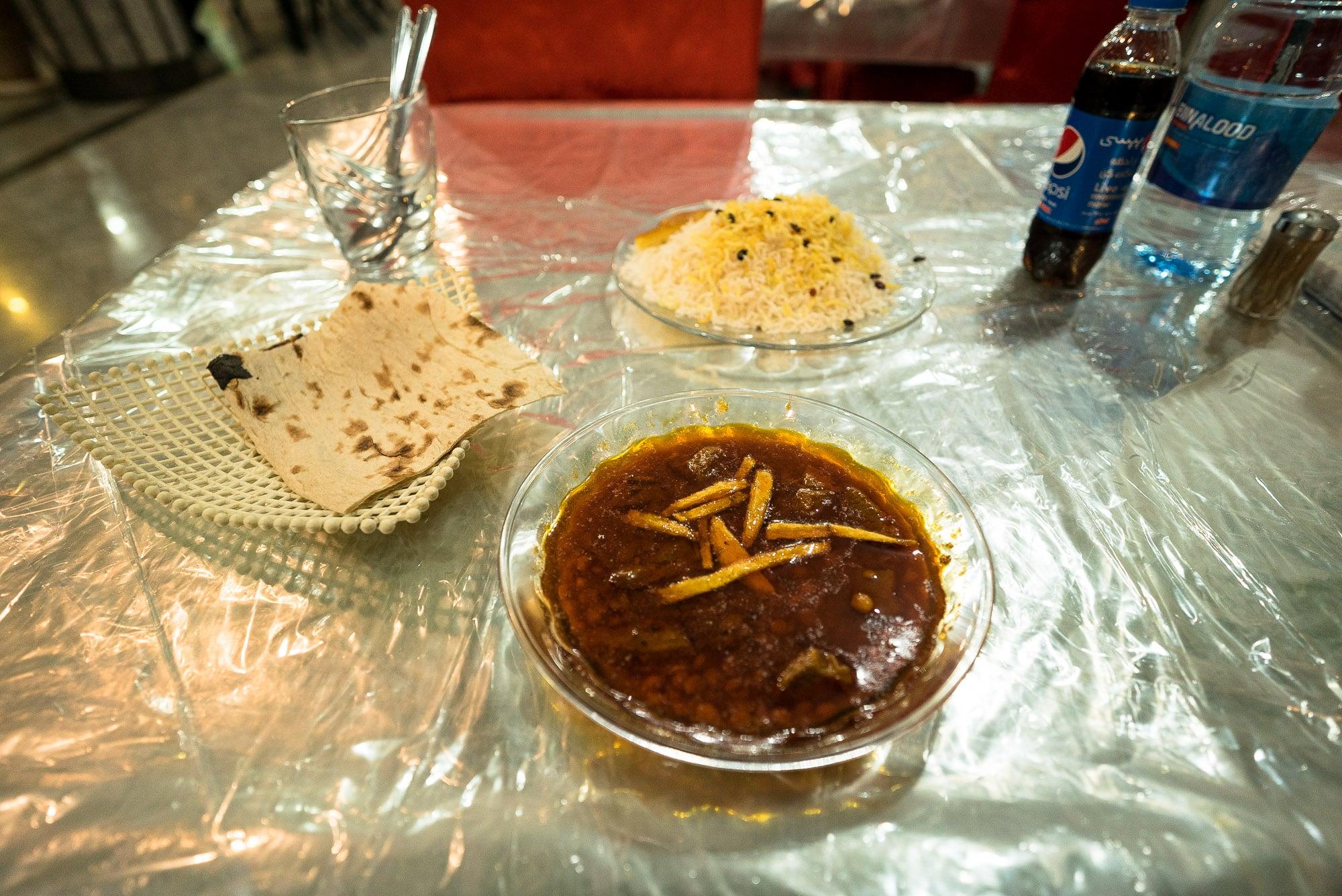 dinner in Sarakhs