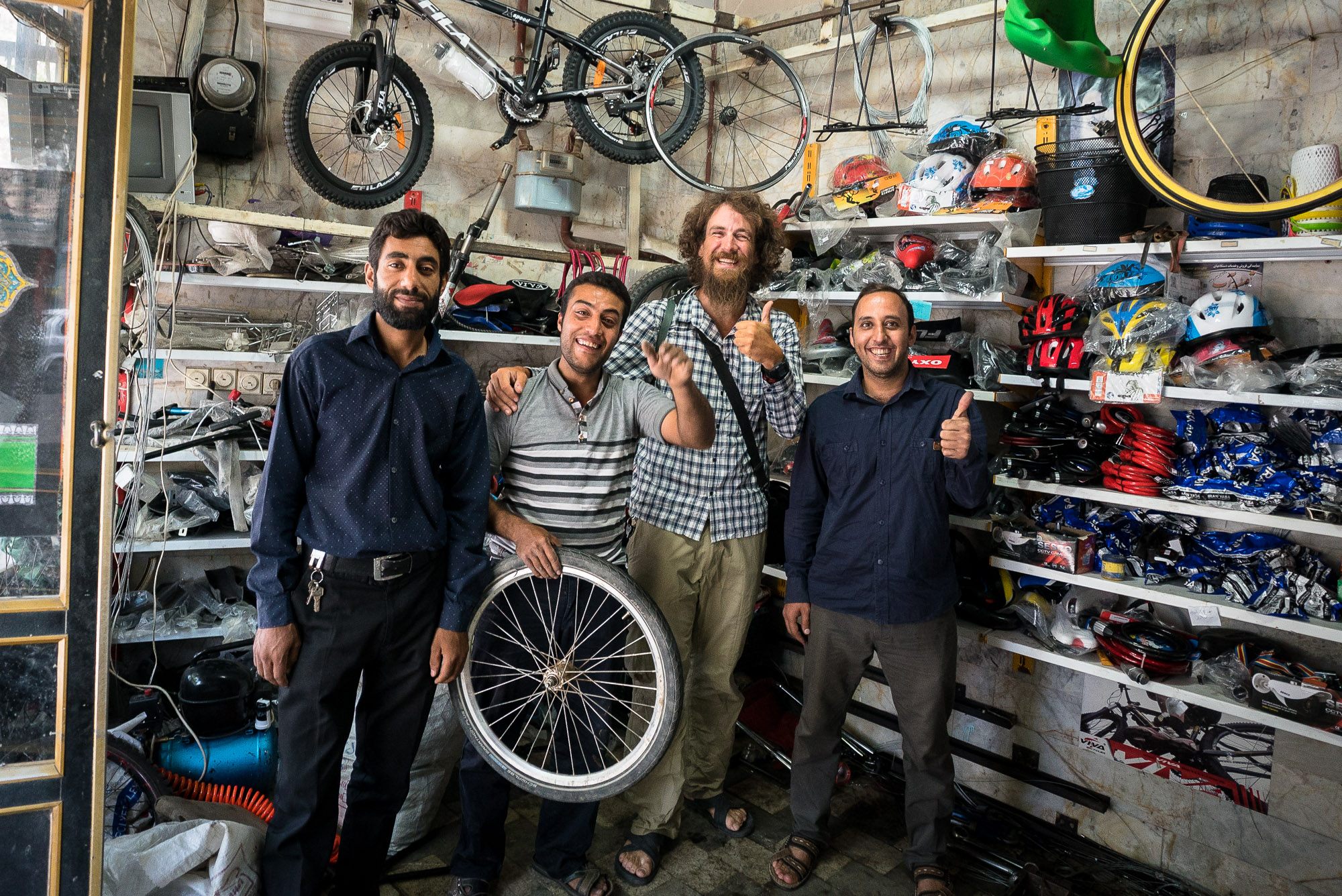 bike shop dudes