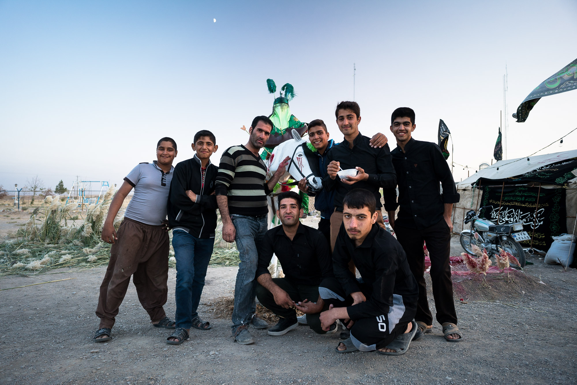 dudes with Imam Hussein