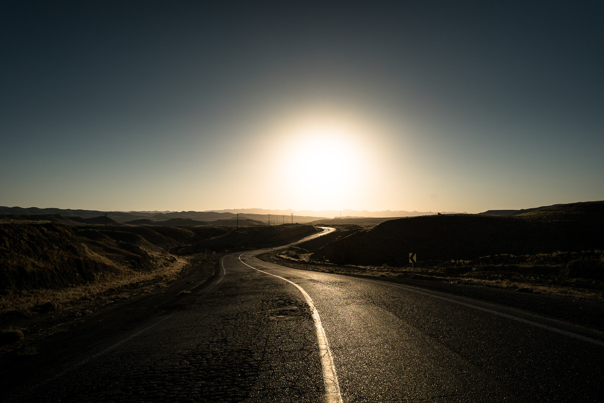 afternoon road in the hills