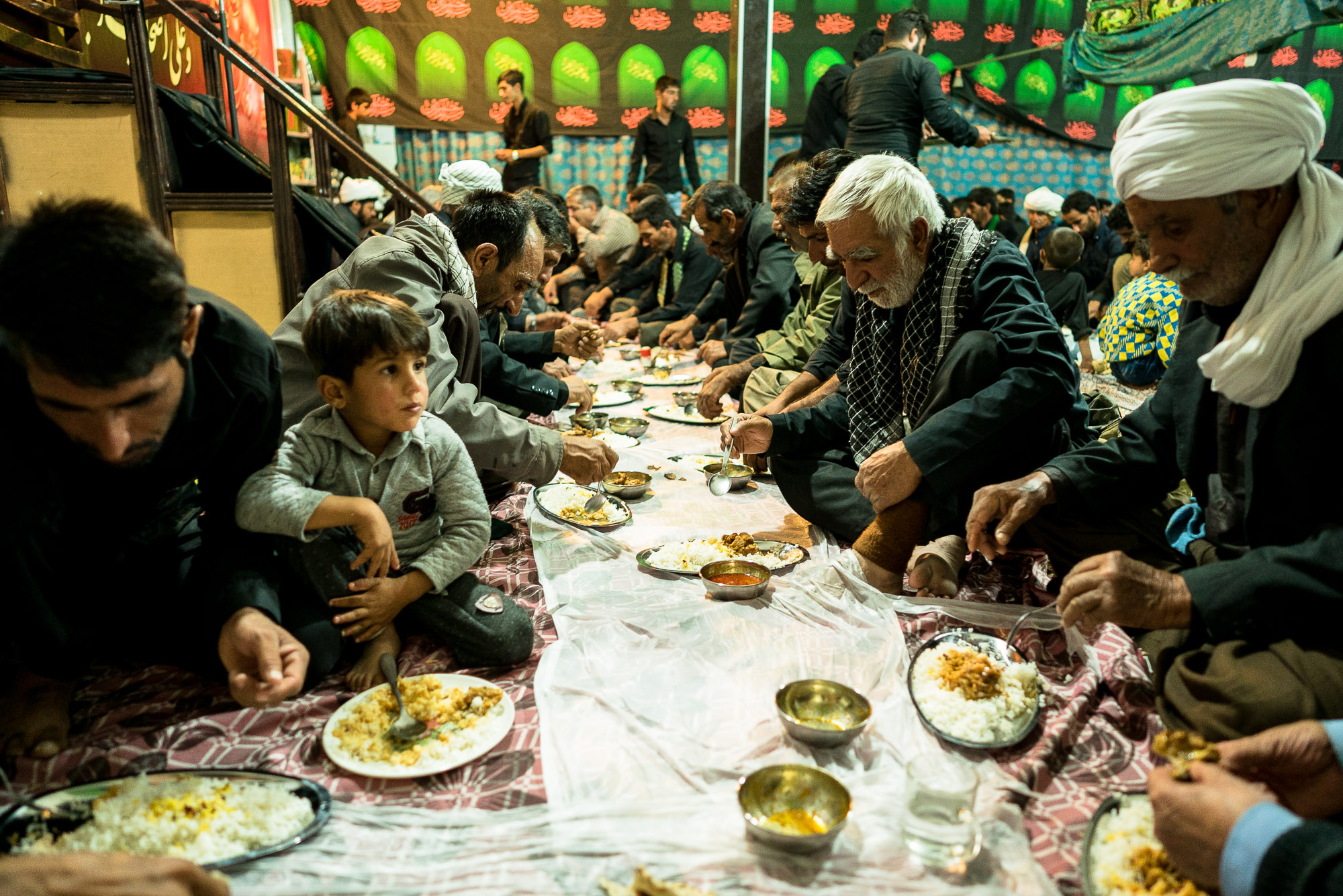 dinner in the mosque of Shurloq