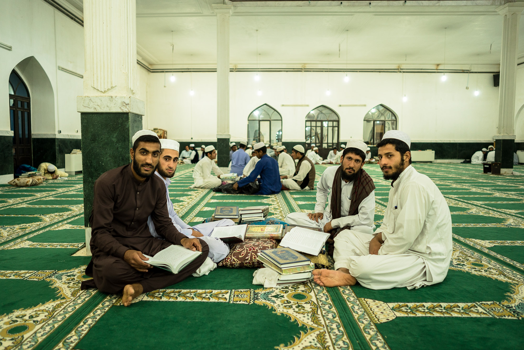 reading in the mosque