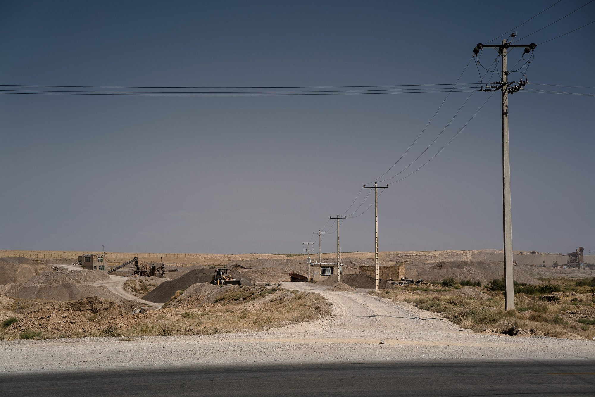 gravel pit near Mashhad