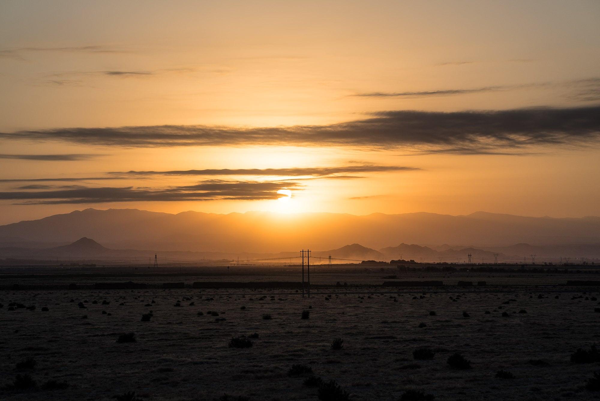sunset near Razaviye