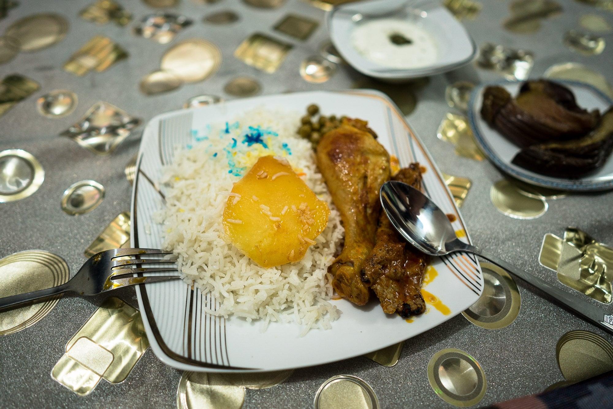 dinner in Mahdi's house