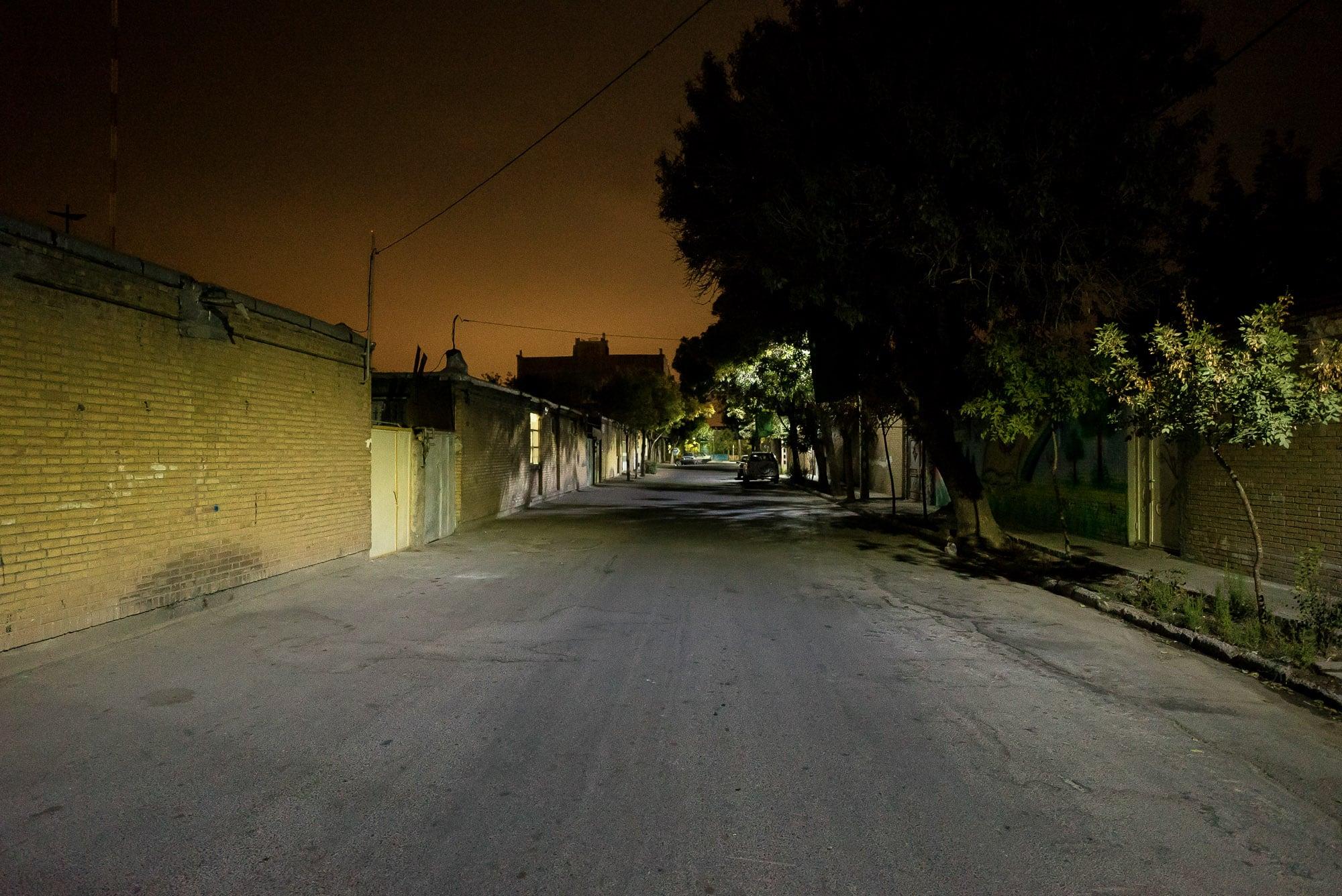 night walk through Razaviye