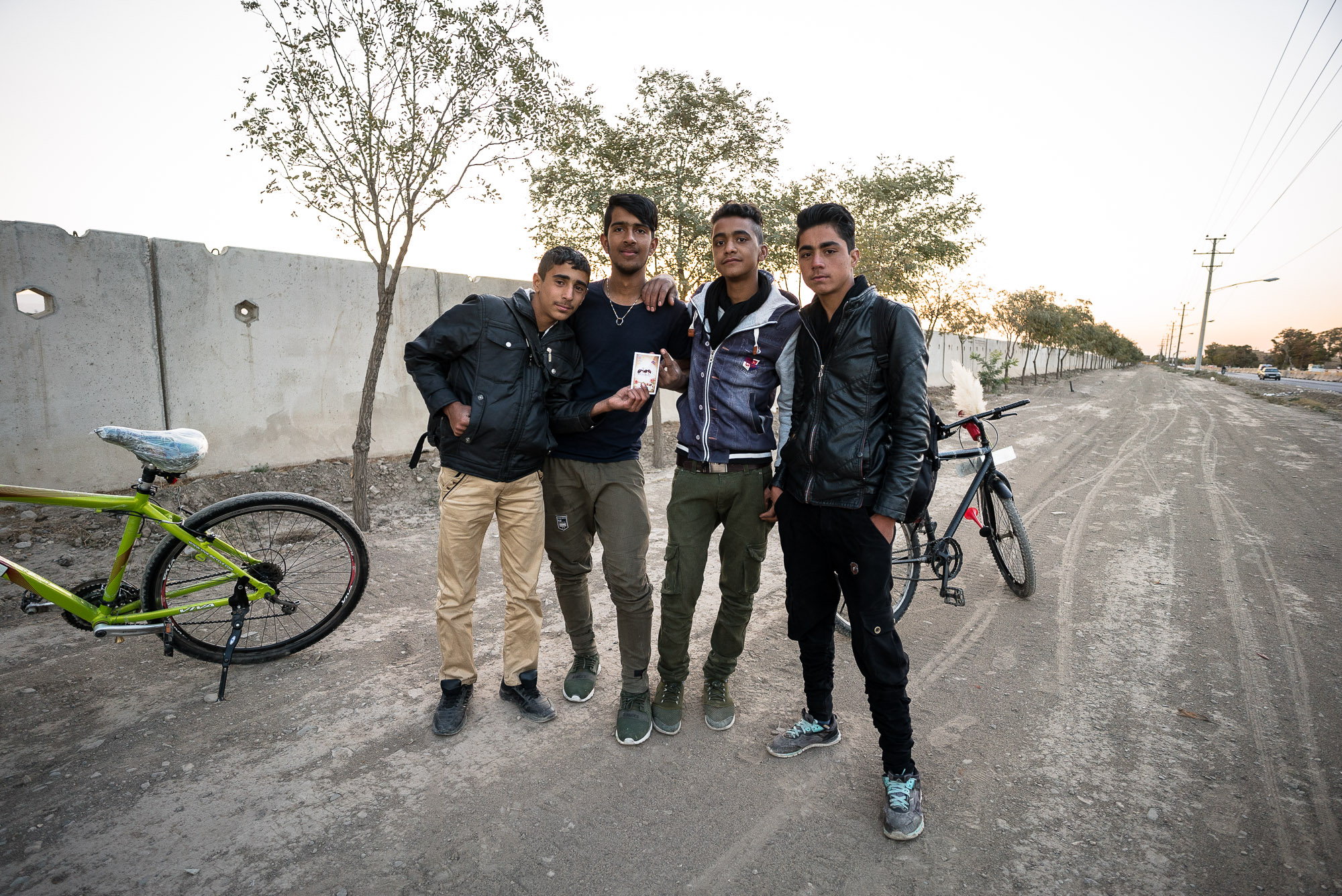 young cyclists near Mashhad