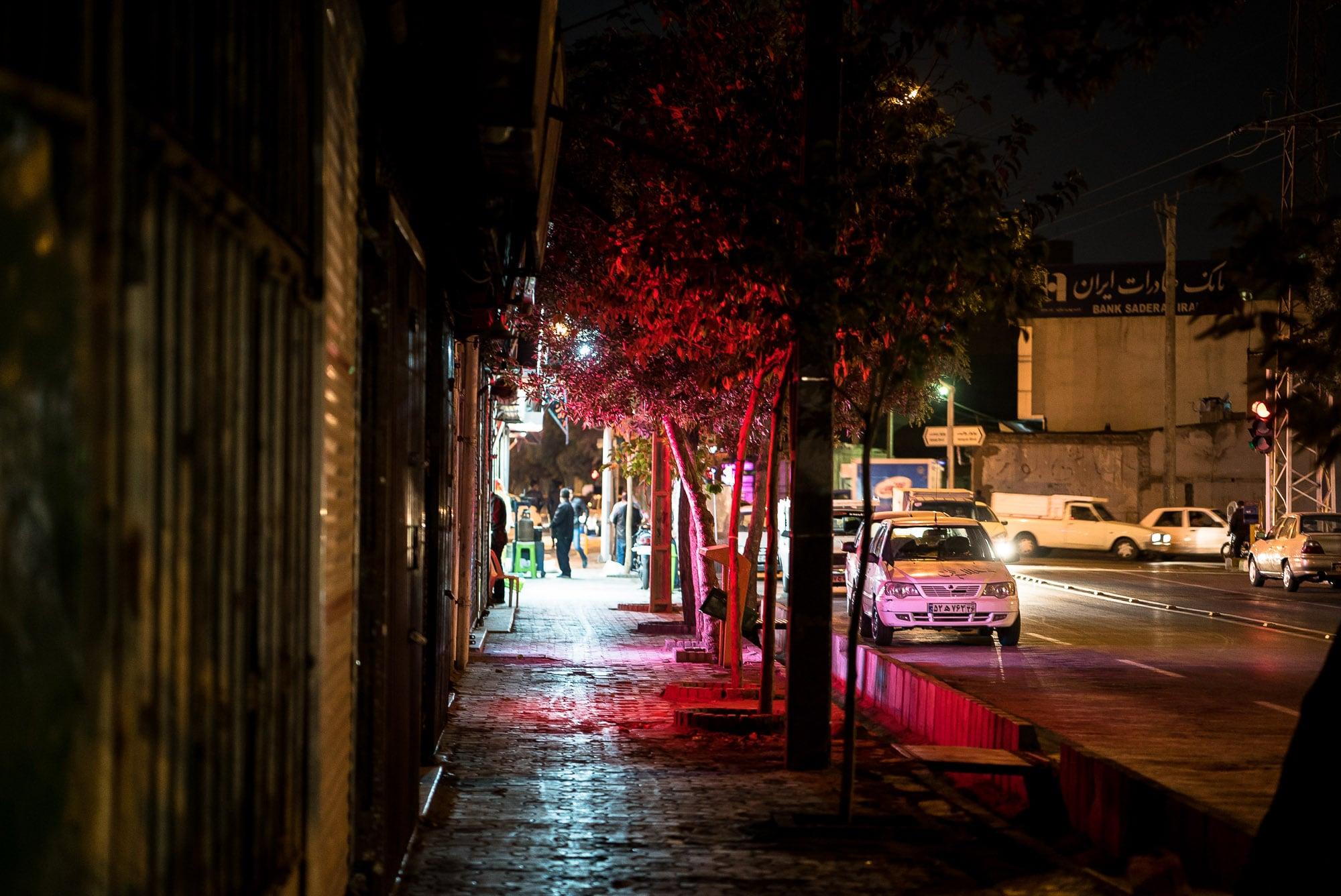 sidewalk in Mashhad