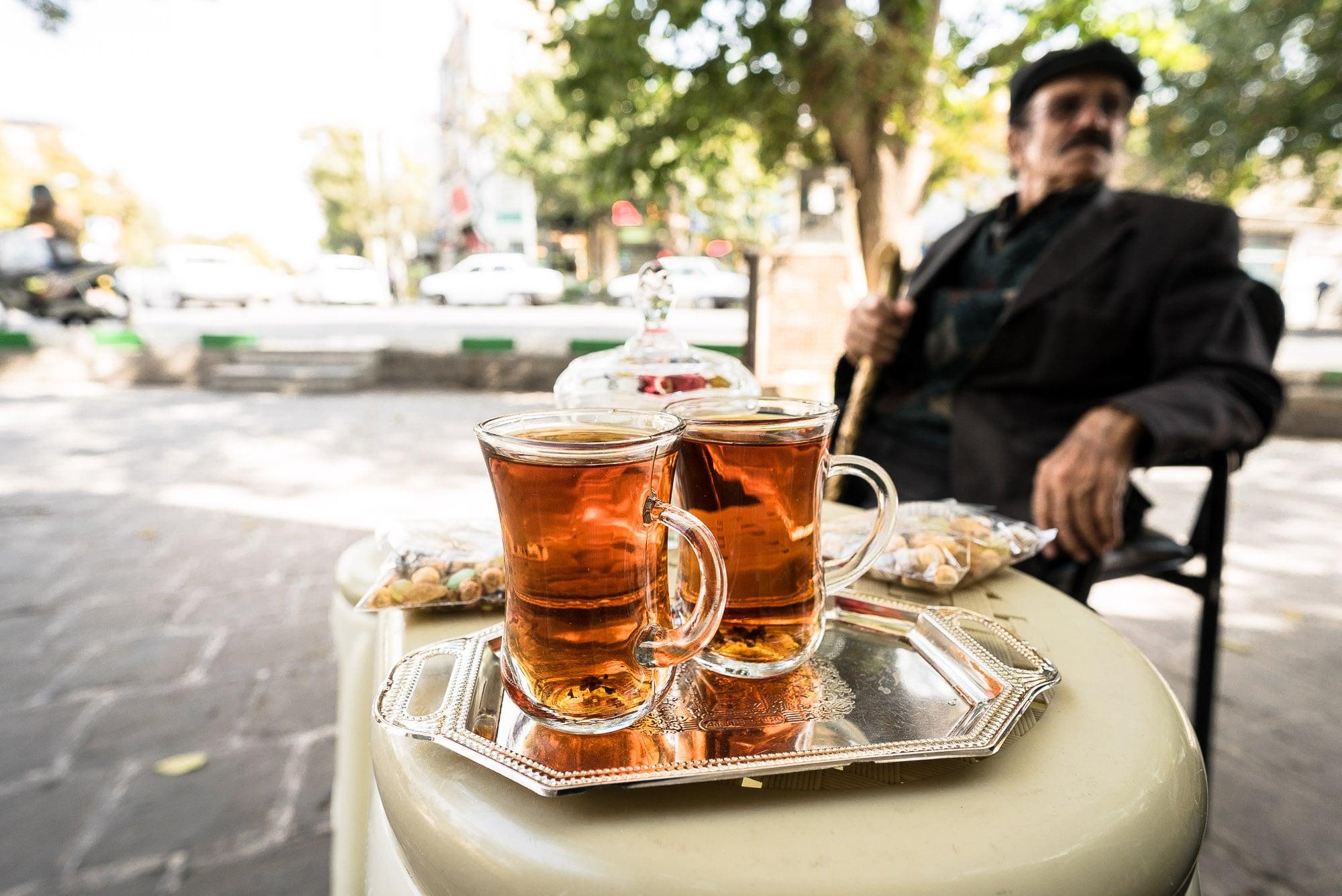 tea at Gonbad Sabz