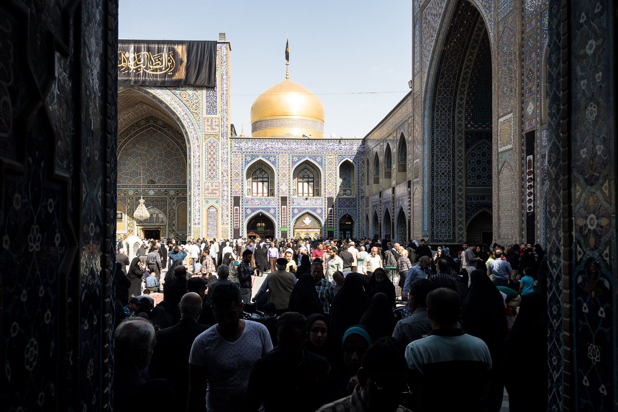inside the shrine of Imam Reza