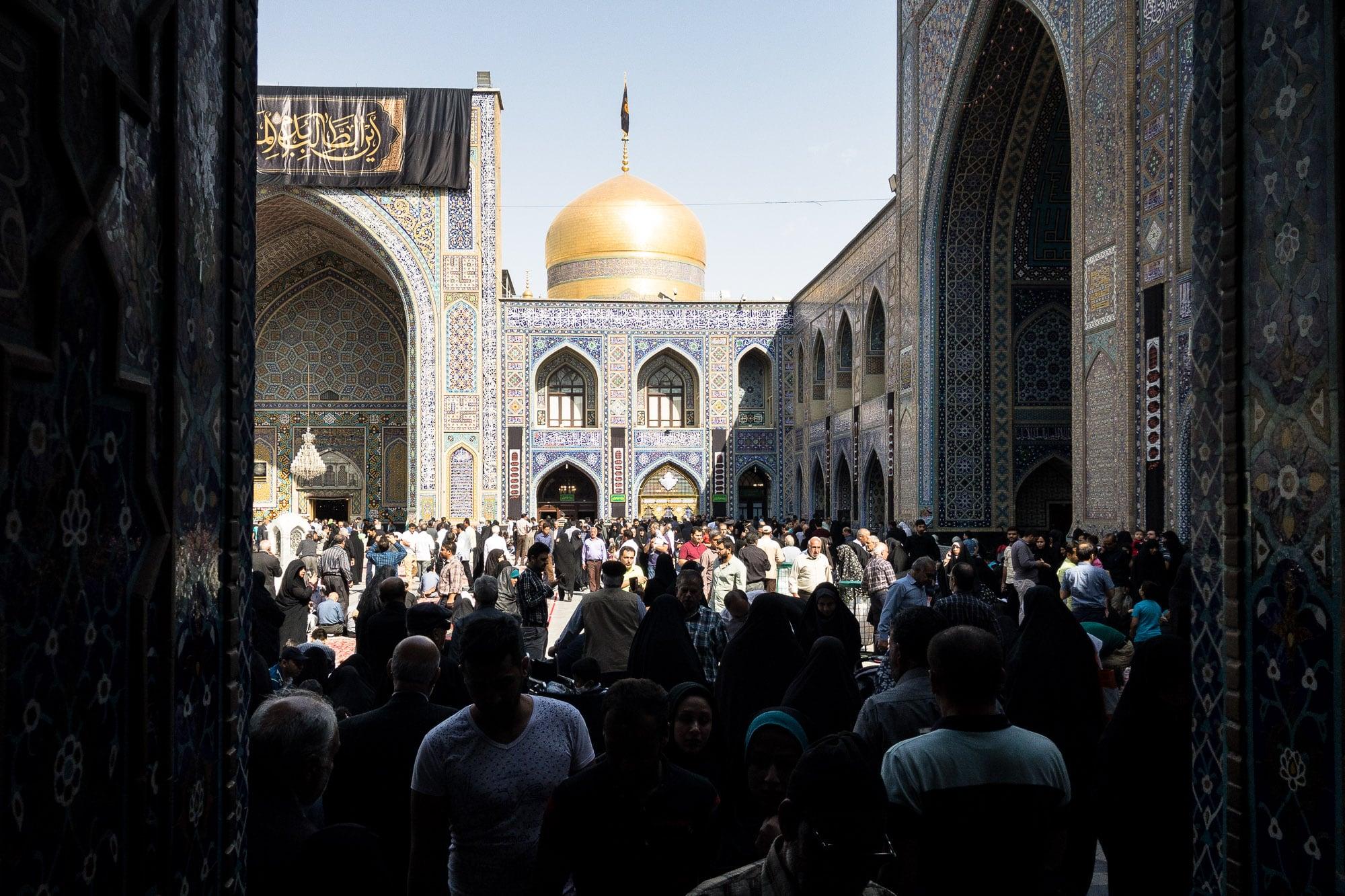 inside the shrine of Imam Reza