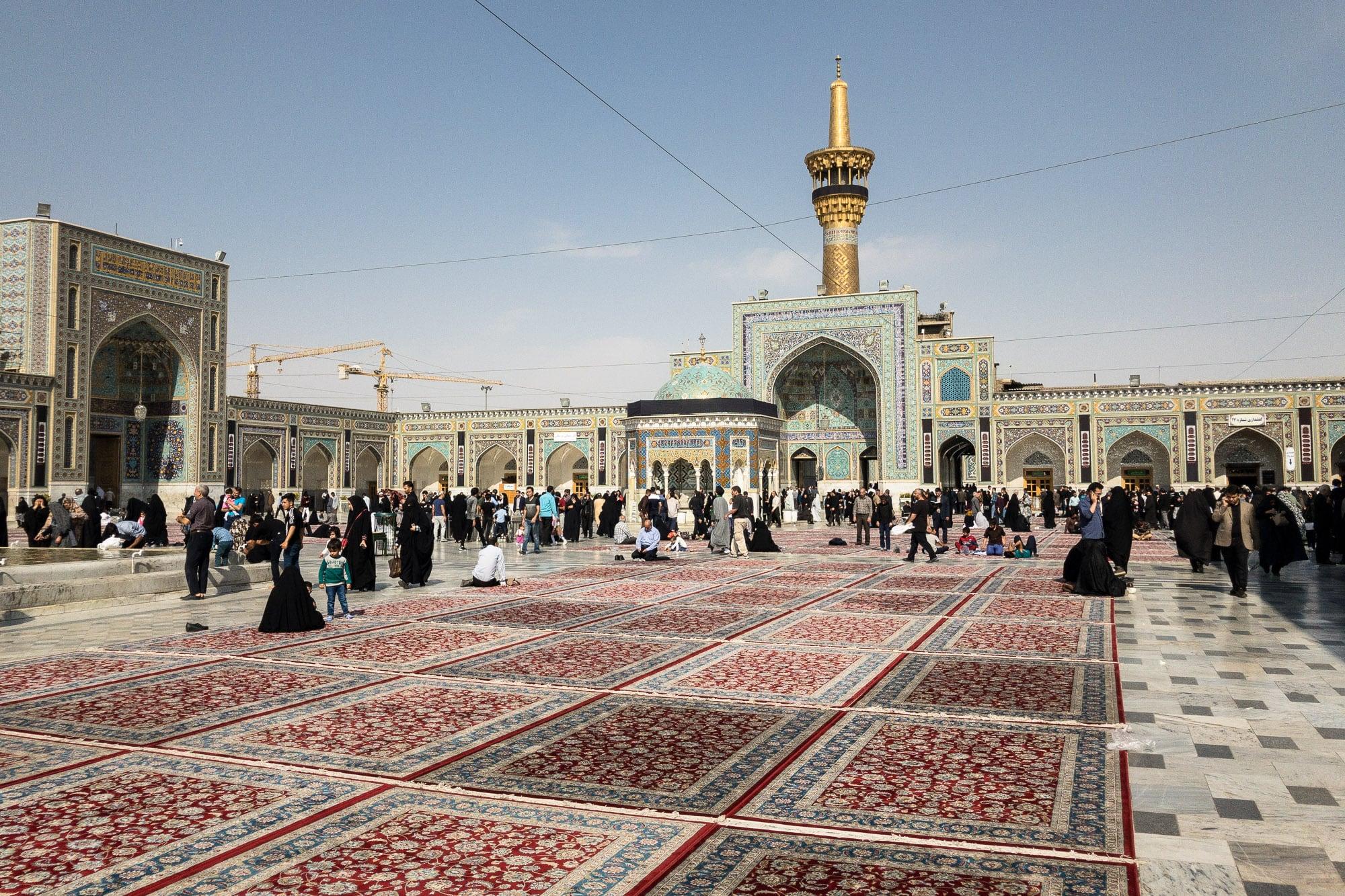 square in the shrine of Imam Reza