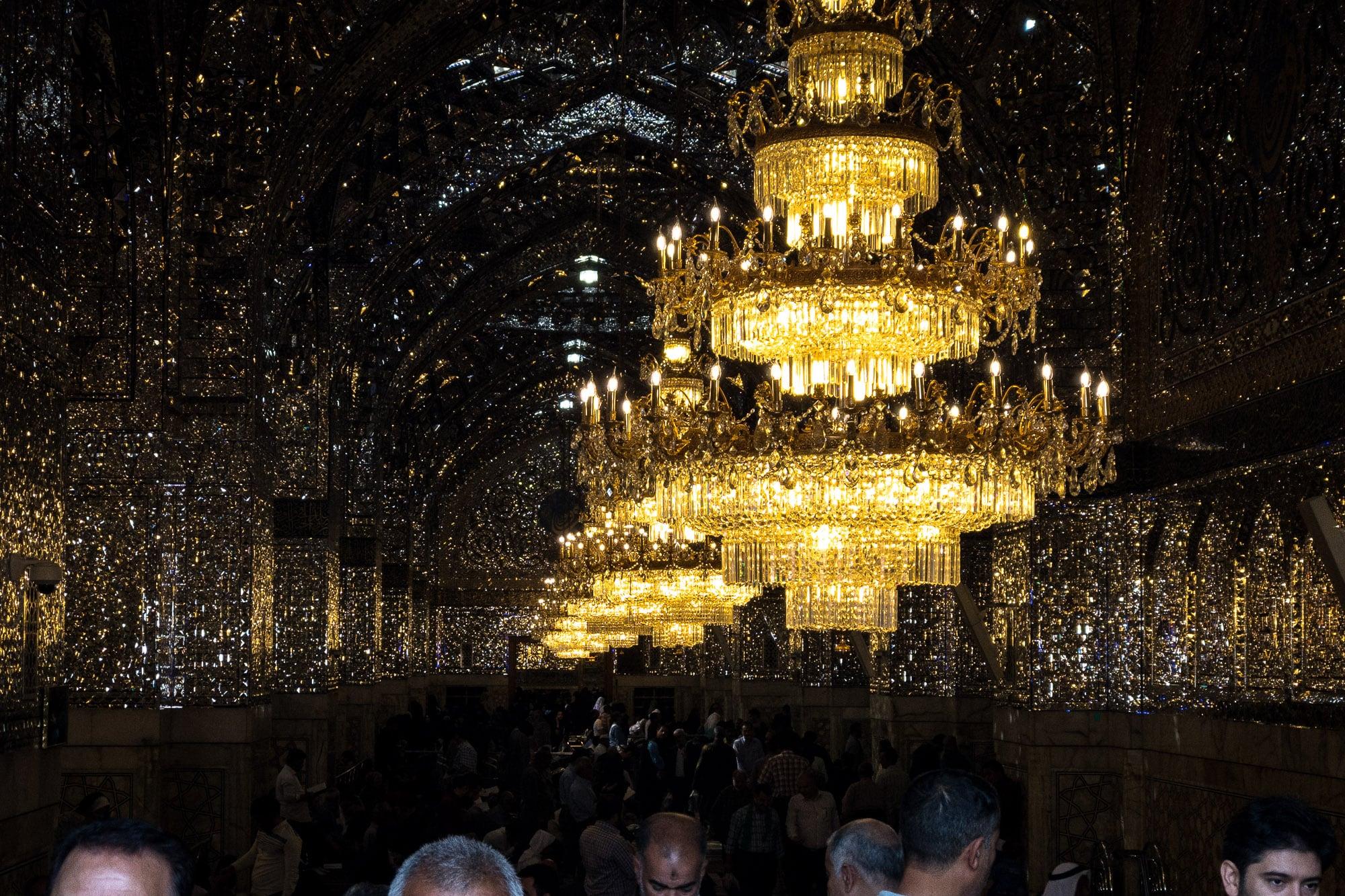 lights in the shrine of Imam Reza