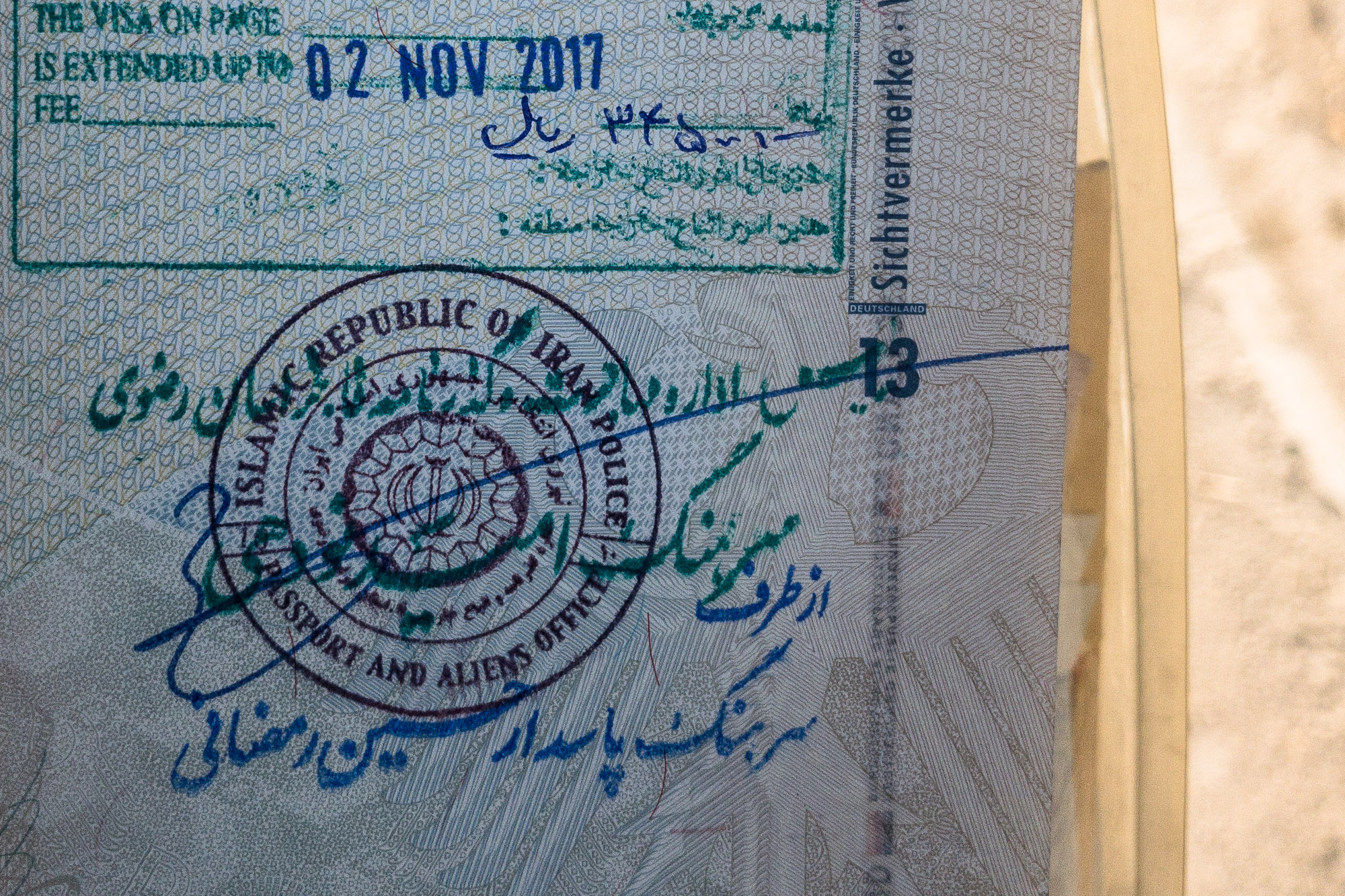 visa extension in Iran