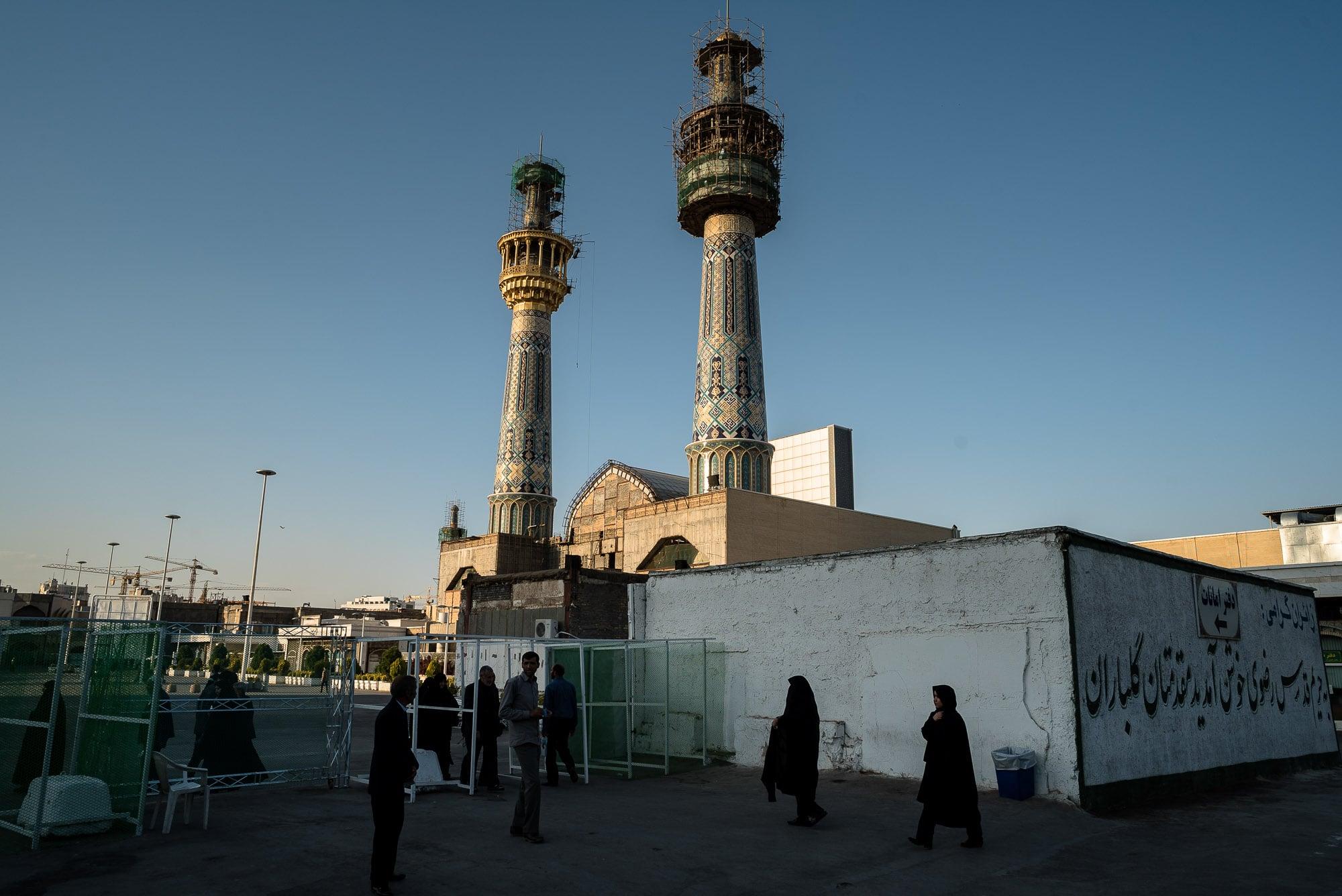minarets of the shrine of Imam Reza