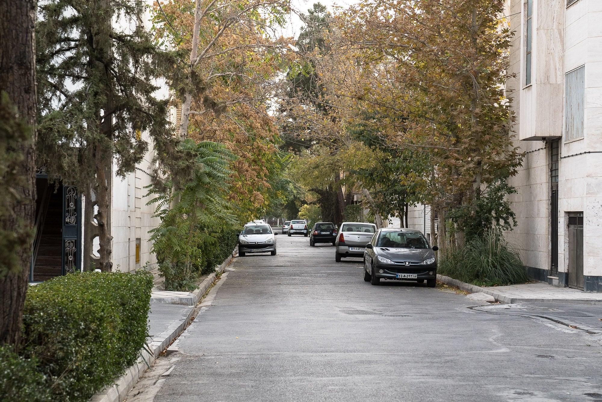 quiet street in Mashhad