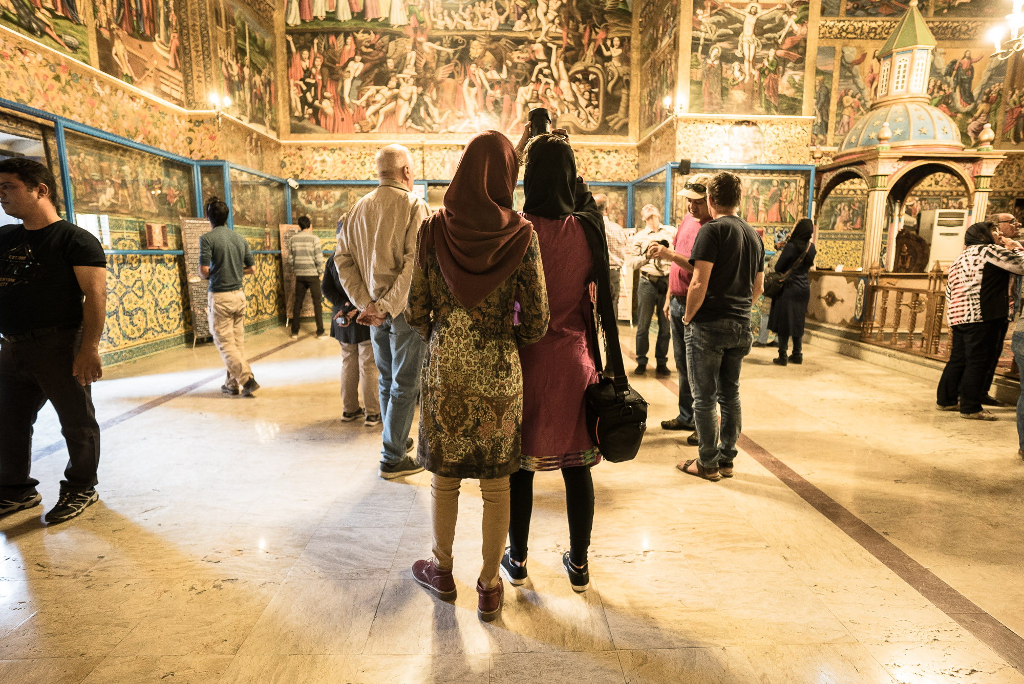 tourists in Vank Cathedral of Isfahan