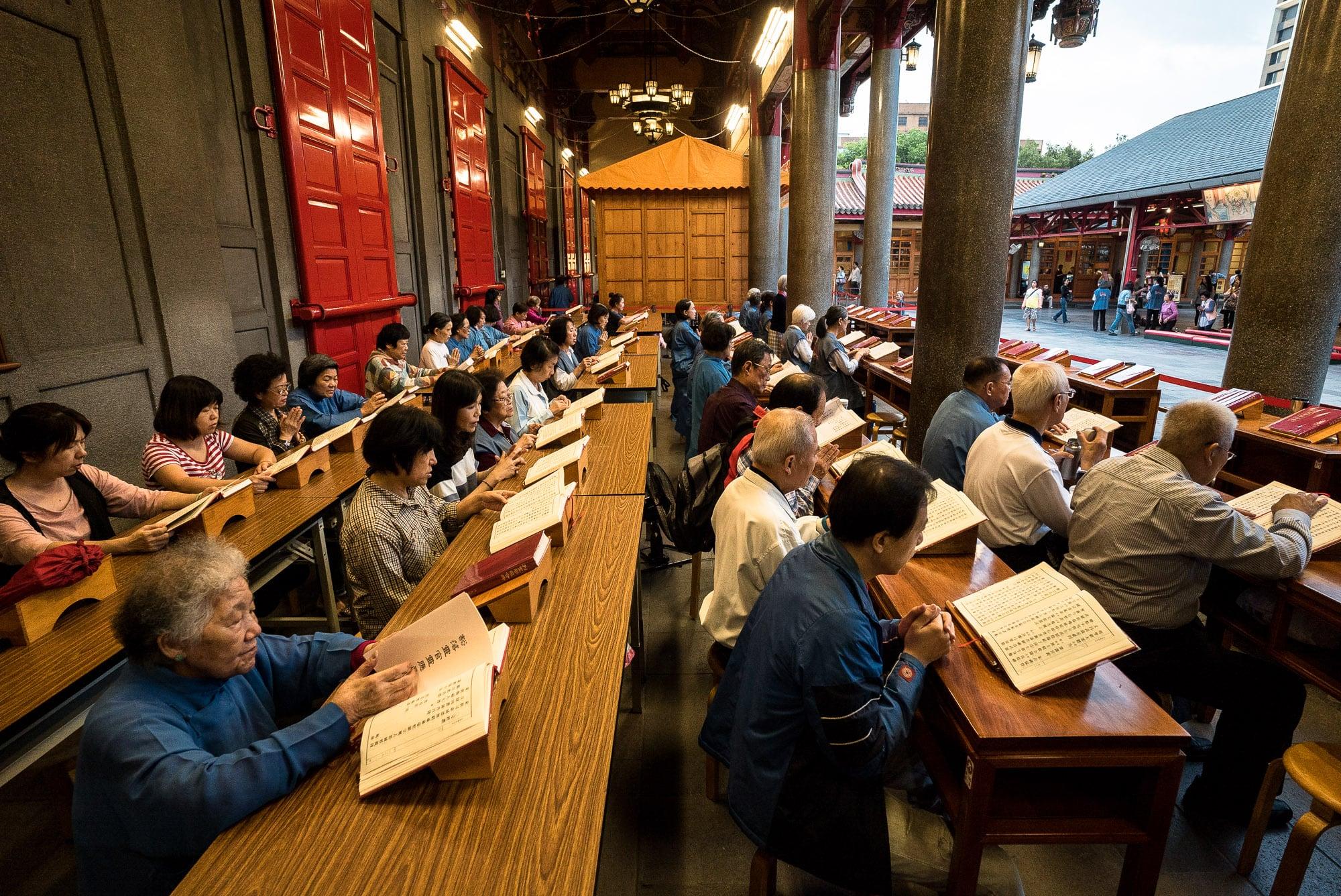 inside Hsing Tian Kong