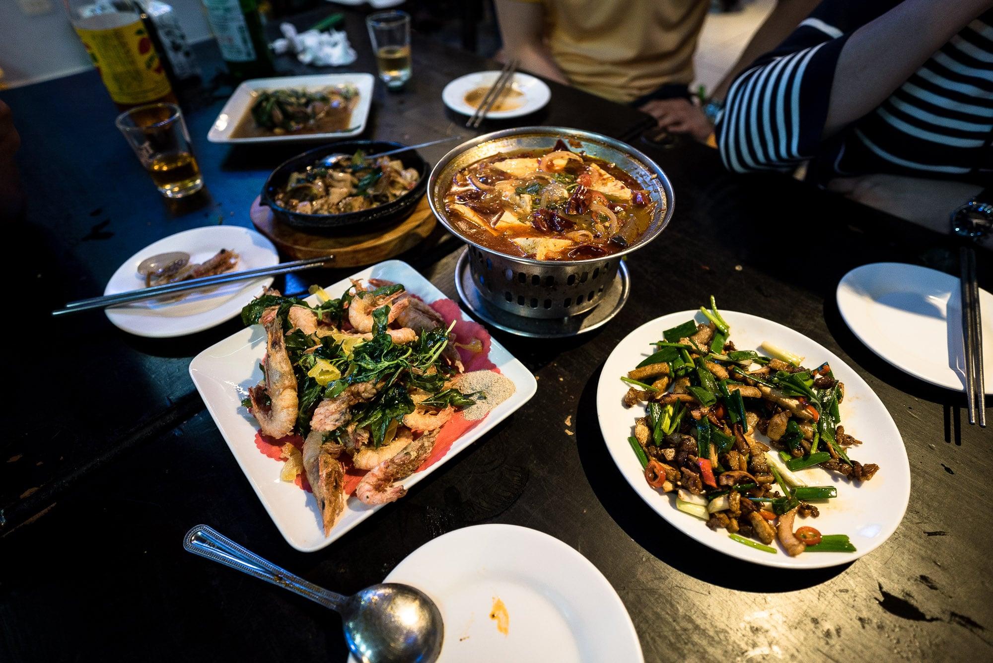 dinner in Taipei