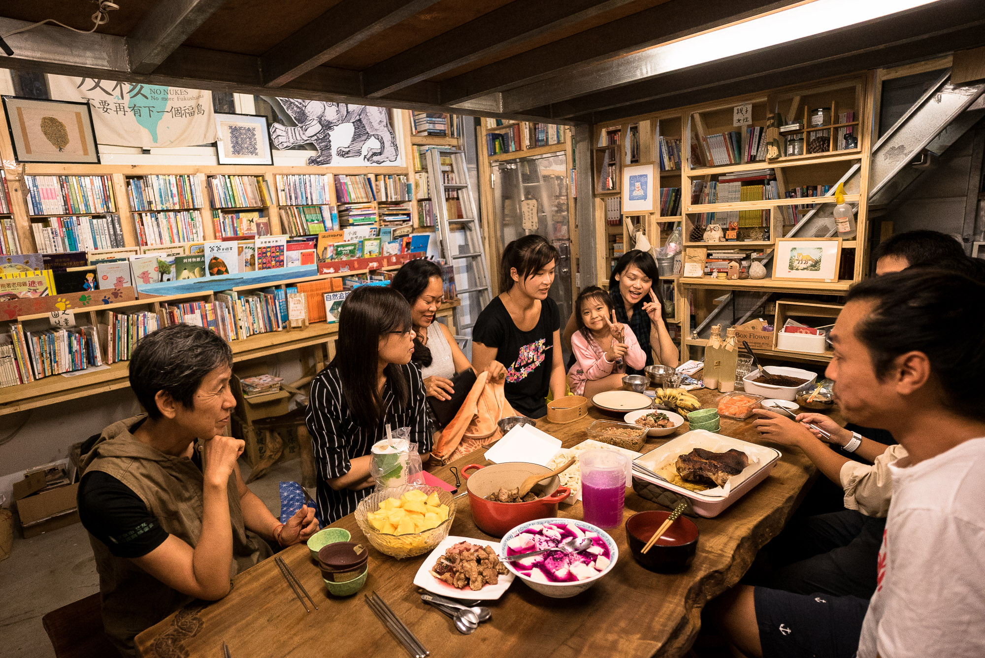 Taitung book store dinner