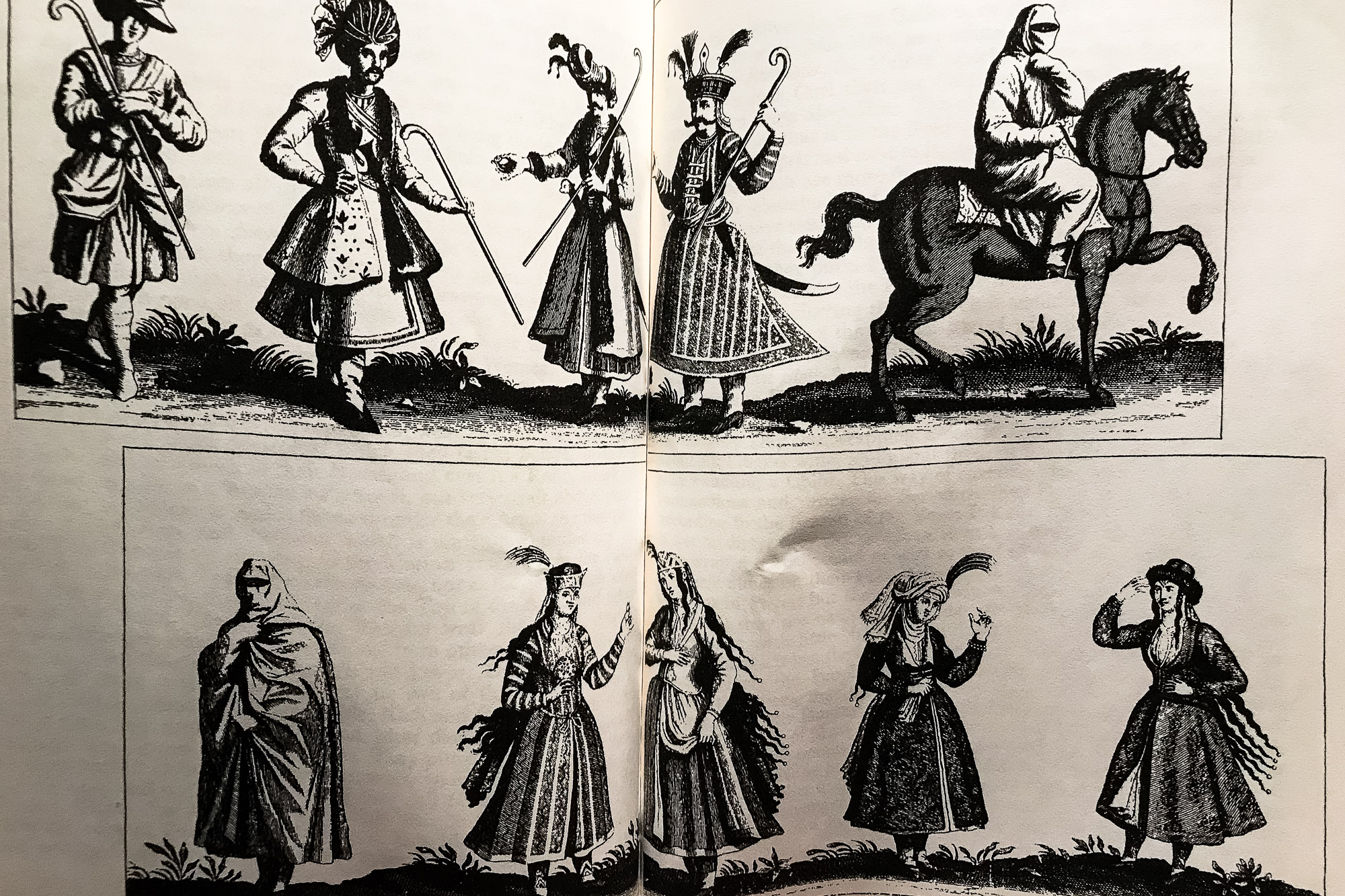 Iranian costumes of the 17th century