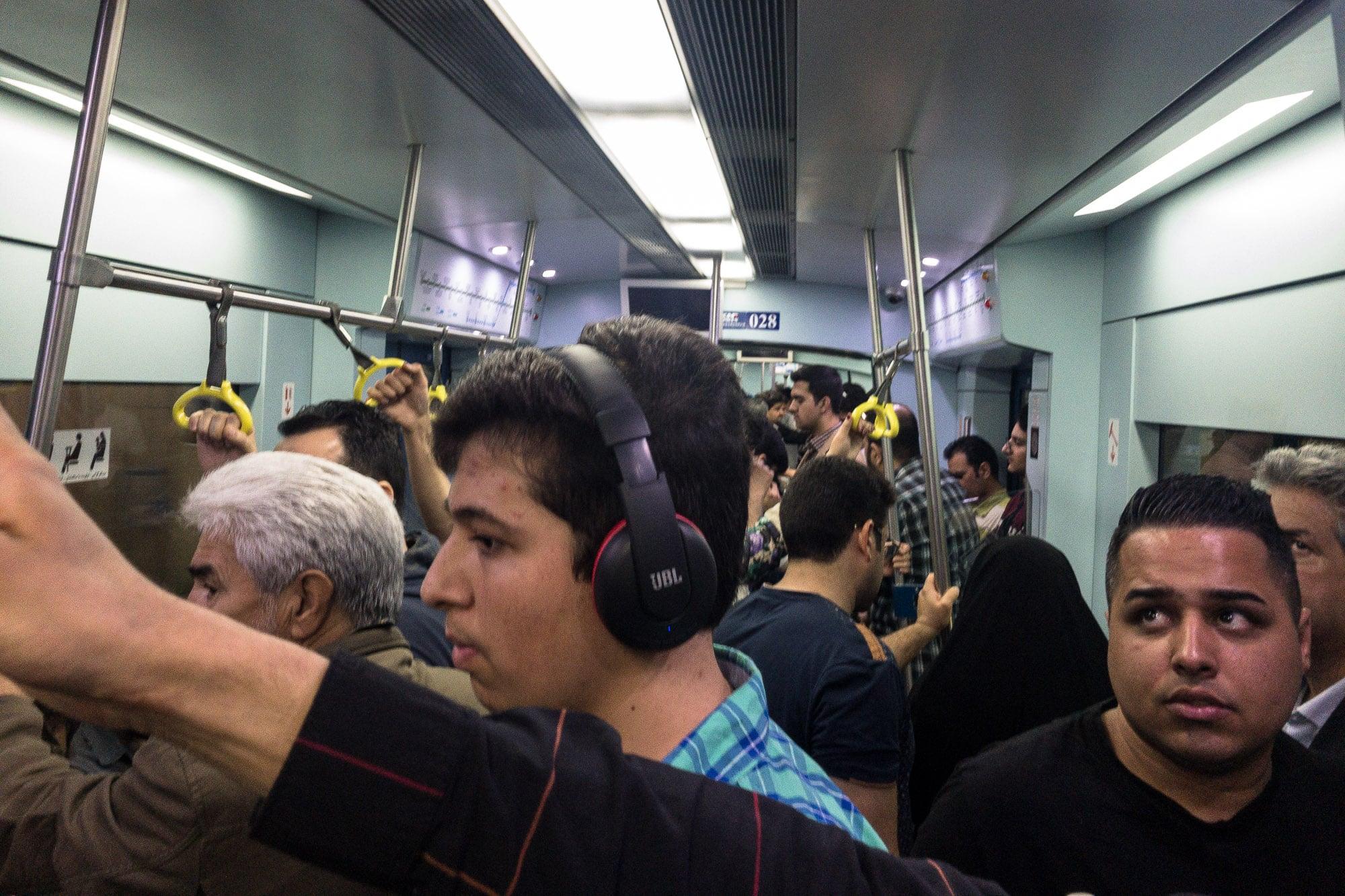 inside Mashhad metro