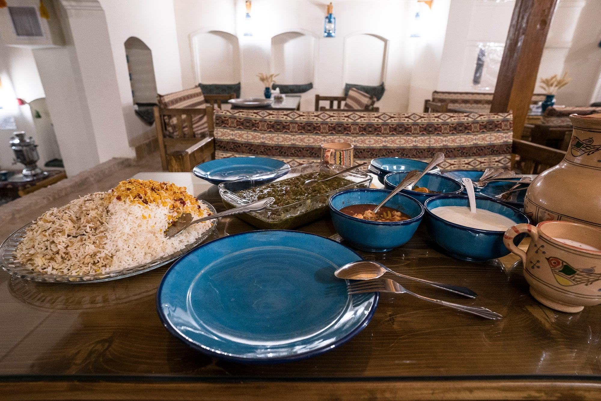 dinner in Radkan