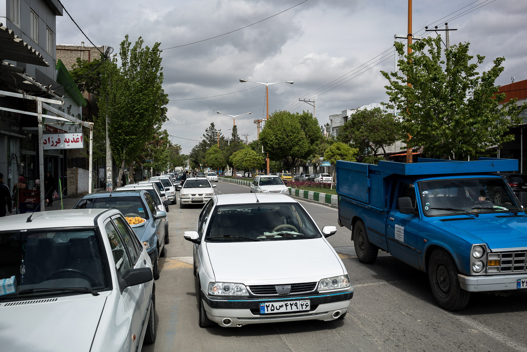 into traffic in Shirvan