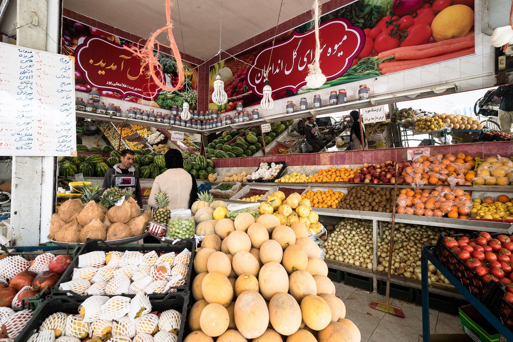 fruit shop in Shirvan