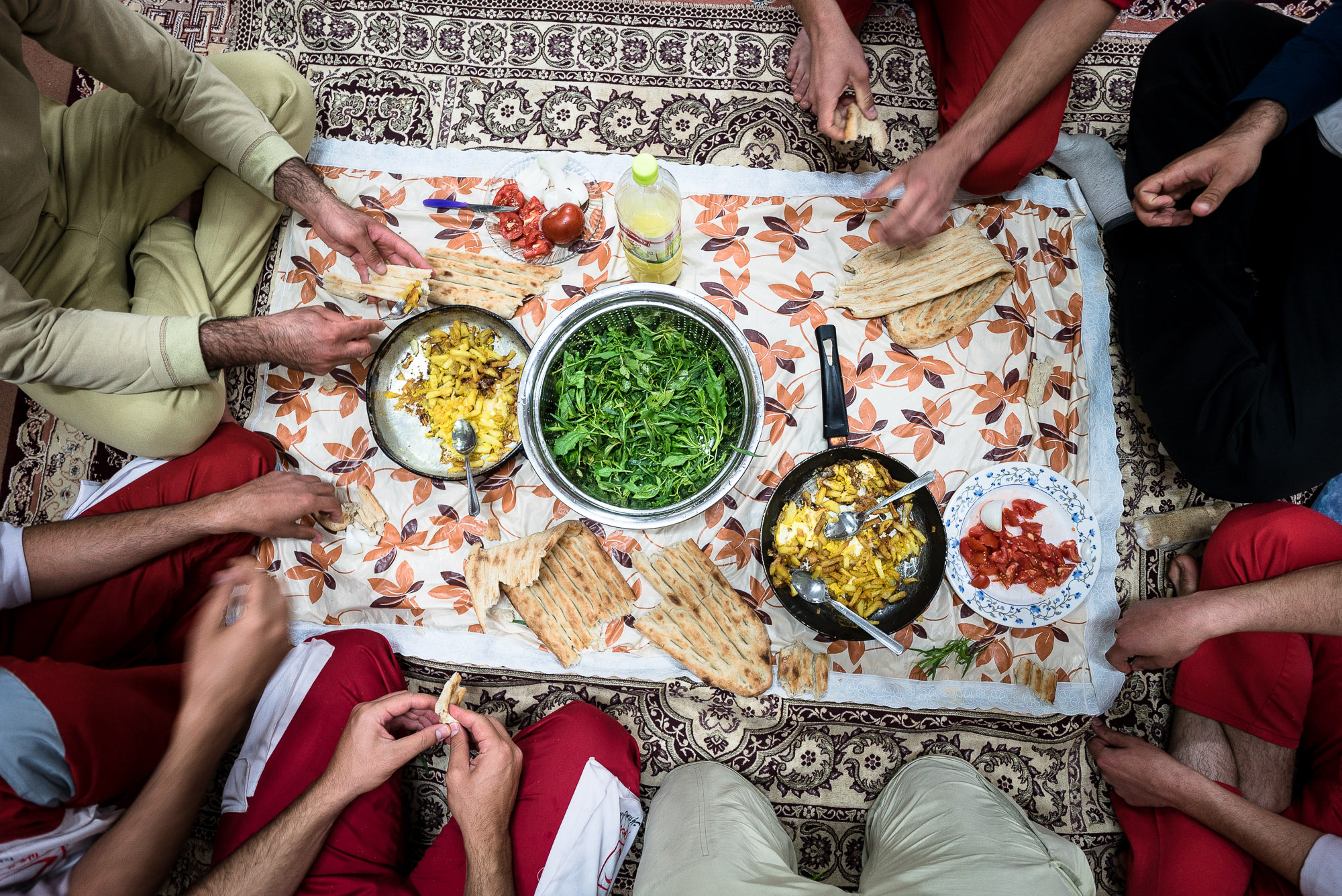 dinner at the Red Crescent
