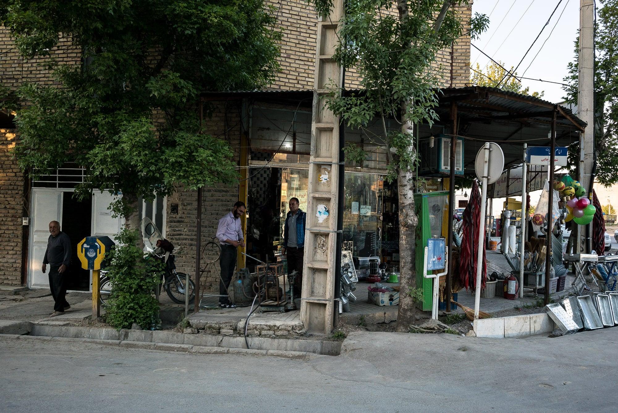 roadside shop in Ashkhaneh