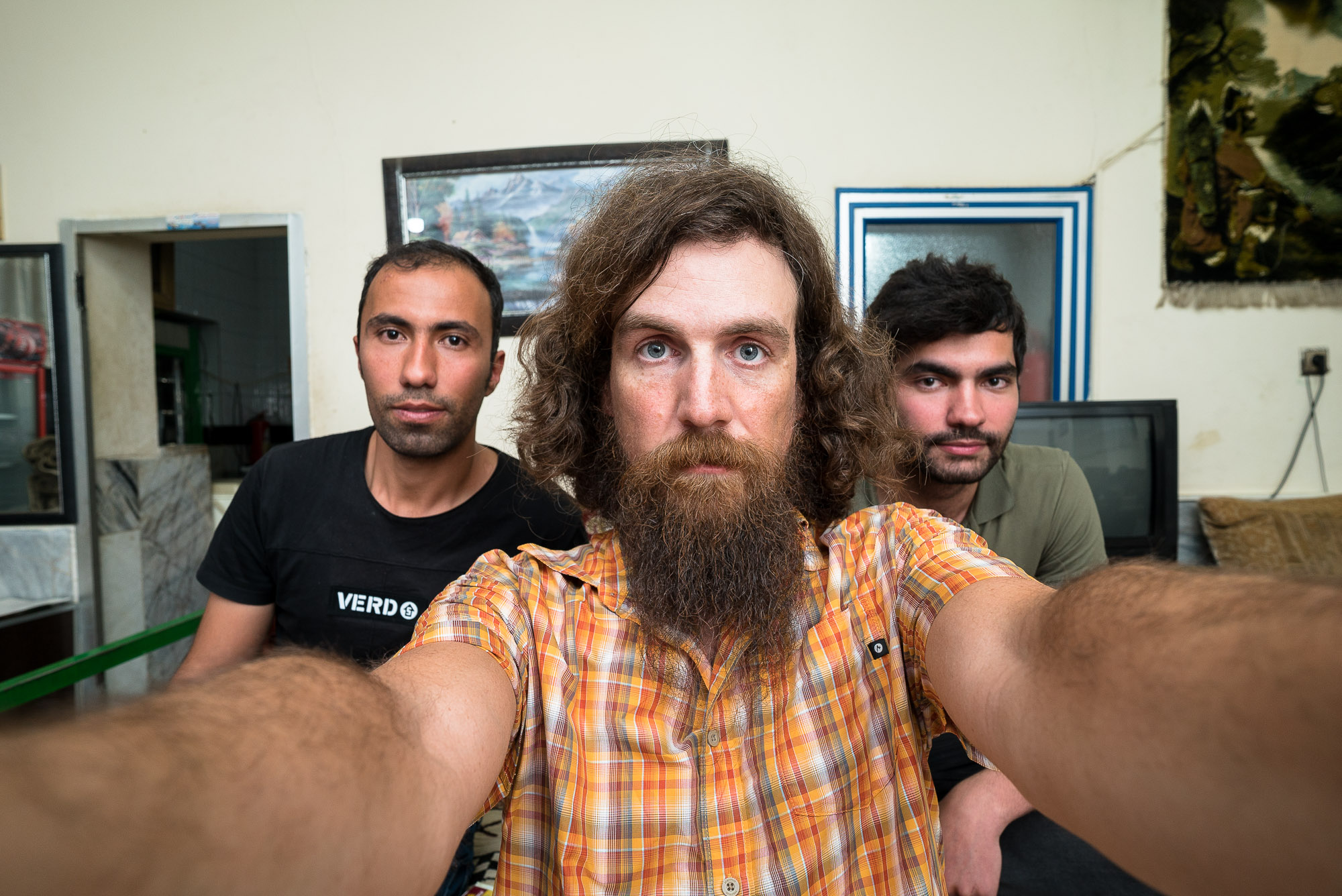 selfie with Abolfaz and Yusuf