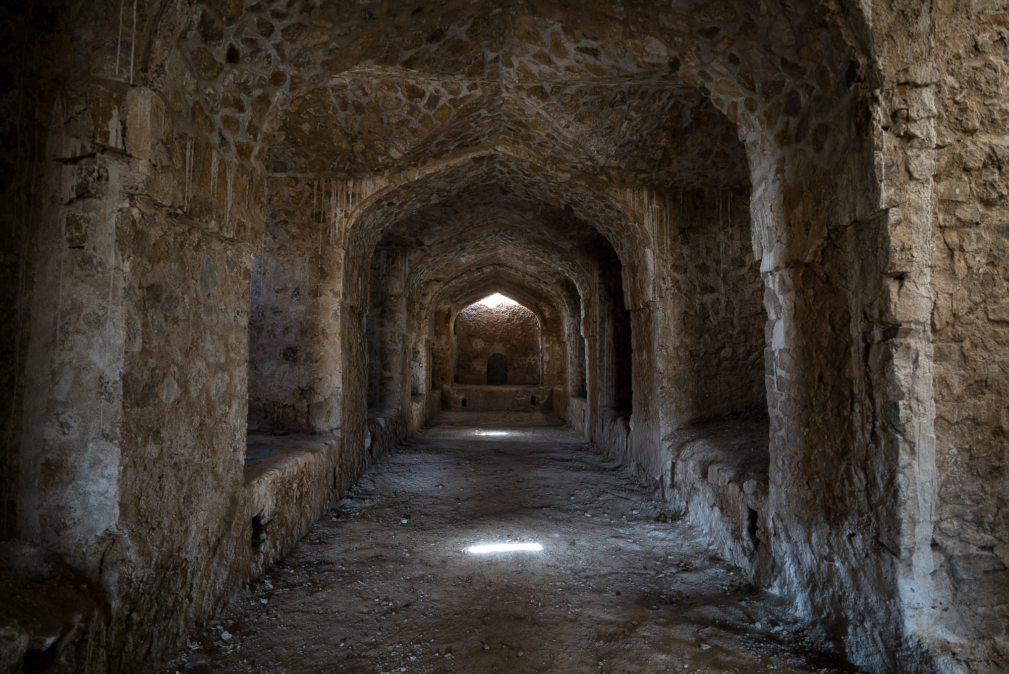 inside the ruined caravanserai