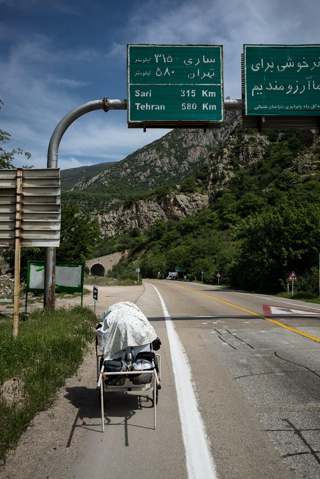580km to Tehran