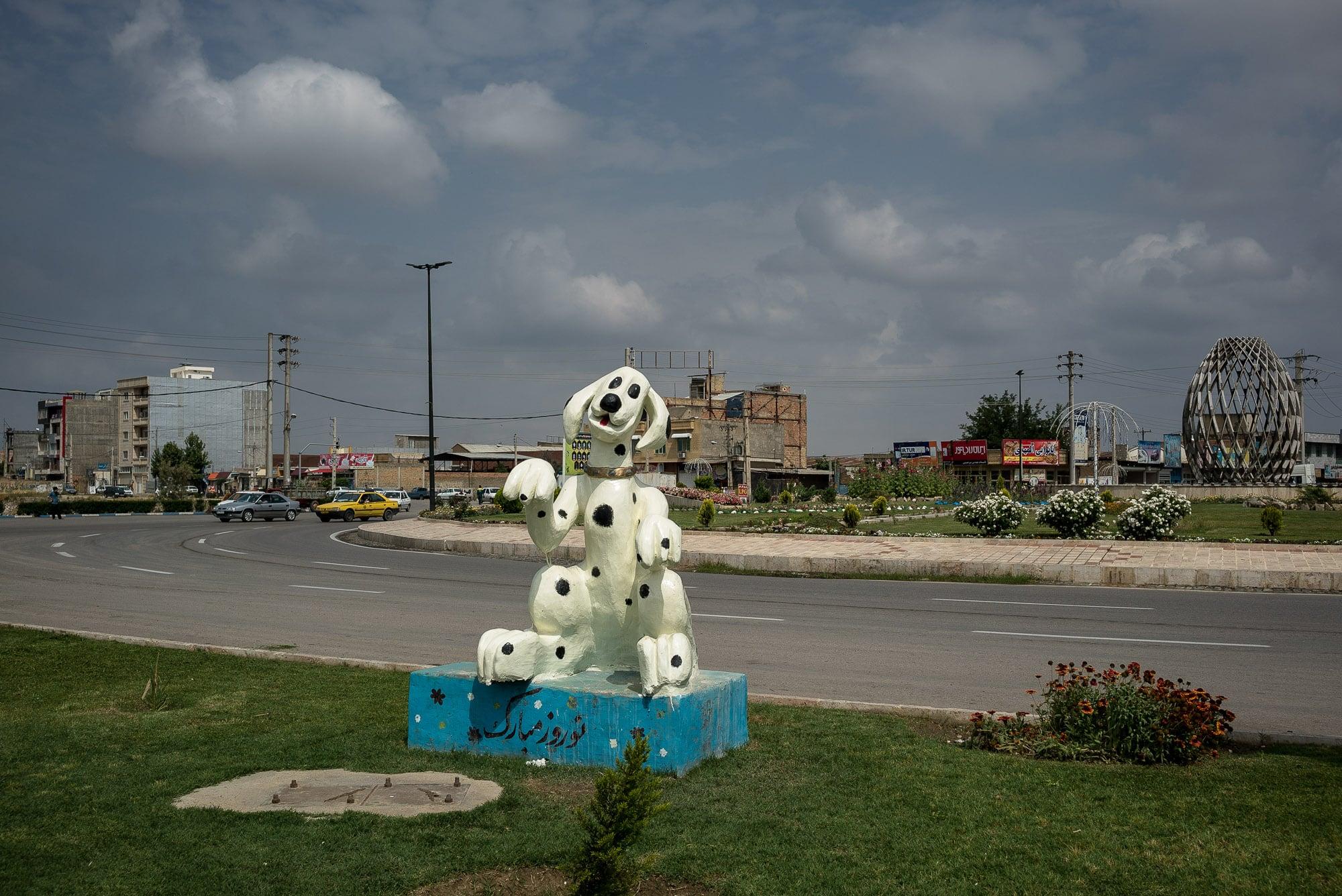 dalmatian statue