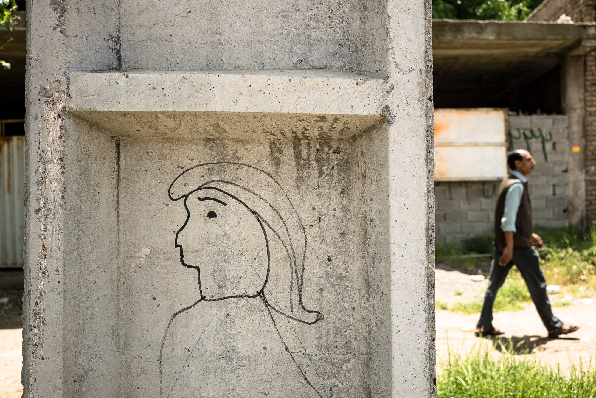 Trump graffito